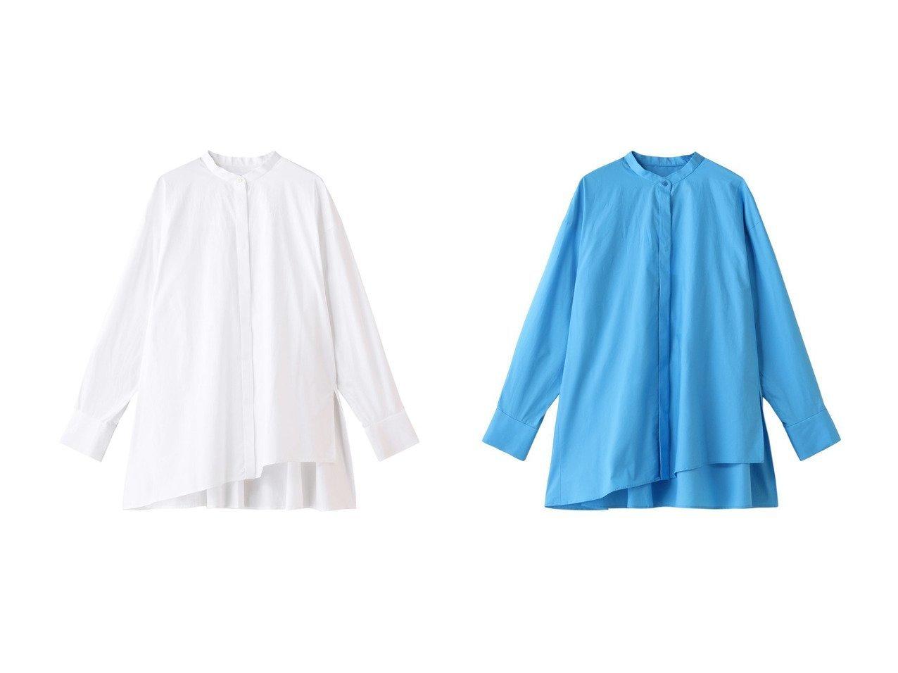 【ENFOLD/エンフォルド】のCOブロード アシンメトリーヘムスタンド シャツ&SOMELOS アシンメトリーヘムスタンド シャツ トップス・カットソーのおすすめ!人気、トレンド・レディースファッションの通販 おすすめで人気の流行・トレンド、ファッションの通販商品 メンズファッション・キッズファッション・インテリア・家具・レディースファッション・服の通販 founy(ファニー) https://founy.com/ ファッション Fashion レディースファッション WOMEN トップス Tops Tshirt シャツ/ブラウス Shirts Blouses 2021年 2021 2021 春夏 S/S SS Spring/Summer 2021 S/S 春夏 SS Spring/Summer アシンメトリー スリット スリーブ フロント ブロード ロング 春 Spring |ID:crp329100000015582