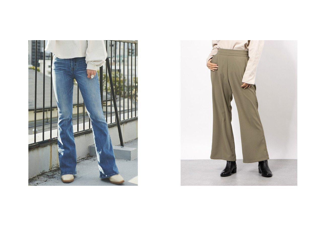 【EGOIST/エゴイスト】のグランジフレアデニムパンツⅡ&【RIKKA FEMME/リッカファム】のレディースロングパンツ パンツのおすすめ!人気、トレンド・レディースファッションの通販  おすすめで人気の流行・トレンド、ファッションの通販商品 メンズファッション・キッズファッション・インテリア・家具・レディースファッション・服の通販 founy(ファニー) https://founy.com/ ファッション Fashion レディースファッション WOMEN パンツ Pants デニムパンツ Denim Pants 春 Spring ストレッチ デニム 人気 ハイライズ パッチ フィット フレア ミックス A/W 秋冬 AW Autumn/Winter / FW Fall-Winter 2021年 2021 S/S 春夏 SS Spring/Summer 2021-2022 秋冬 A/W AW Autumn/Winter / FW Fall-Winter 2021-2022 トレンド ドローコード フロント リラックス  ID:crp329100000015593