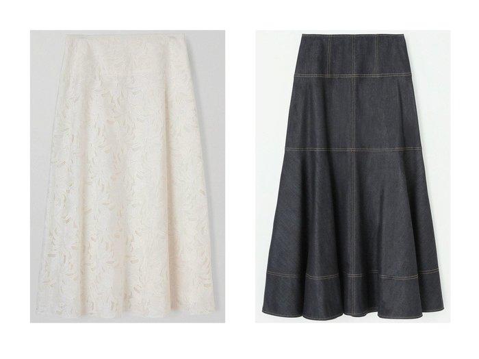 【ANAYI/アナイ】のフラワーエンブロイダリーフレアスカート&デニムライクロングスカート スカートのおすすめ!人気、トレンド・レディースファッションの通販  おすすめファッション通販アイテム レディースファッション・服の通販 founy(ファニー) ファッション Fashion レディースファッション WOMEN スカート Skirt ロングスカート Long Skirt Aライン/フレアスカート Flared A-Line Skirts 2021年 2021 2021 春夏 S/S SS Spring/Summer 2021 S/S 春夏 SS Spring/Summer シルク シンプル ストレッチ デニム フレア ロング 切替 春 Spring |ID:crp329100000015599