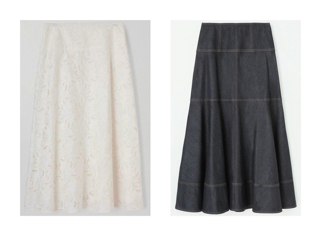【ANAYI/アナイ】のフラワーエンブロイダリーフレアスカート&デニムライクロングスカート スカートのおすすめ!人気、トレンド・レディースファッションの通販  おすすめで人気の流行・トレンド、ファッションの通販商品 メンズファッション・キッズファッション・インテリア・家具・レディースファッション・服の通販 founy(ファニー) https://founy.com/ ファッション Fashion レディースファッション WOMEN スカート Skirt ロングスカート Long Skirt Aライン/フレアスカート Flared A-Line Skirts 2021年 2021 2021 春夏 S/S SS Spring/Summer 2021 S/S 春夏 SS Spring/Summer シルク シンプル ストレッチ デニム フレア ロング 切替 春 Spring |ID:crp329100000015599