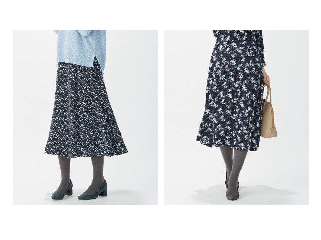 【J.PRESS/ジェイ プレス】の【洗える】ジオメトリック フラワープリント スカート スカートのおすすめ!人気、トレンド・レディースファッションの通販  おすすめで人気の流行・トレンド、ファッションの通販商品 メンズファッション・キッズファッション・インテリア・家具・レディースファッション・服の通販 founy(ファニー) https://founy.com/ ファッション Fashion レディースファッション WOMEN スカート Skirt NEW・新作・新着・新入荷 New Arrivals 送料無料 Free Shipping ウォーム サテン セットアップ トレンド ピーチ フラワー フレアースカート プリント ワンポイント 切替 春 Spring 洗える |ID:crp329100000015605