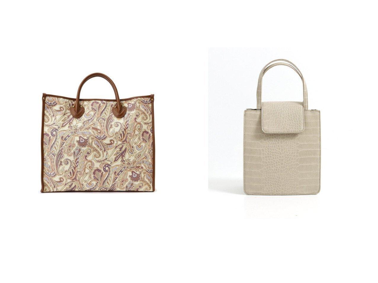 【FREE'S MART/フリーズマート】のマルチワイドトート21ss ペイズリー柄1&【Factor=/ファクターイコール】のFactor= スクエアフラップ2WAY型押しミニトートバッグ バッグ・鞄のおすすめ!人気、トレンド・レディースファッションの通販  おすすめで人気の流行・トレンド、ファッションの通販商品 メンズファッション・キッズファッション・インテリア・家具・レディースファッション・服の通販 founy(ファニー) https://founy.com/ ファッション Fashion レディースファッション WOMEN バッグ Bag 2021年 2021 2021 春夏 S/S SS Spring/Summer 2021 S/S 春夏 SS Spring/Summer ショルダー ペイズリー ポケット 春 Spring ヴィンテージ クロコ シンプル ジャケット スクエア スニーカー デニム フラップ ブルゾン |ID:crp329100000015644