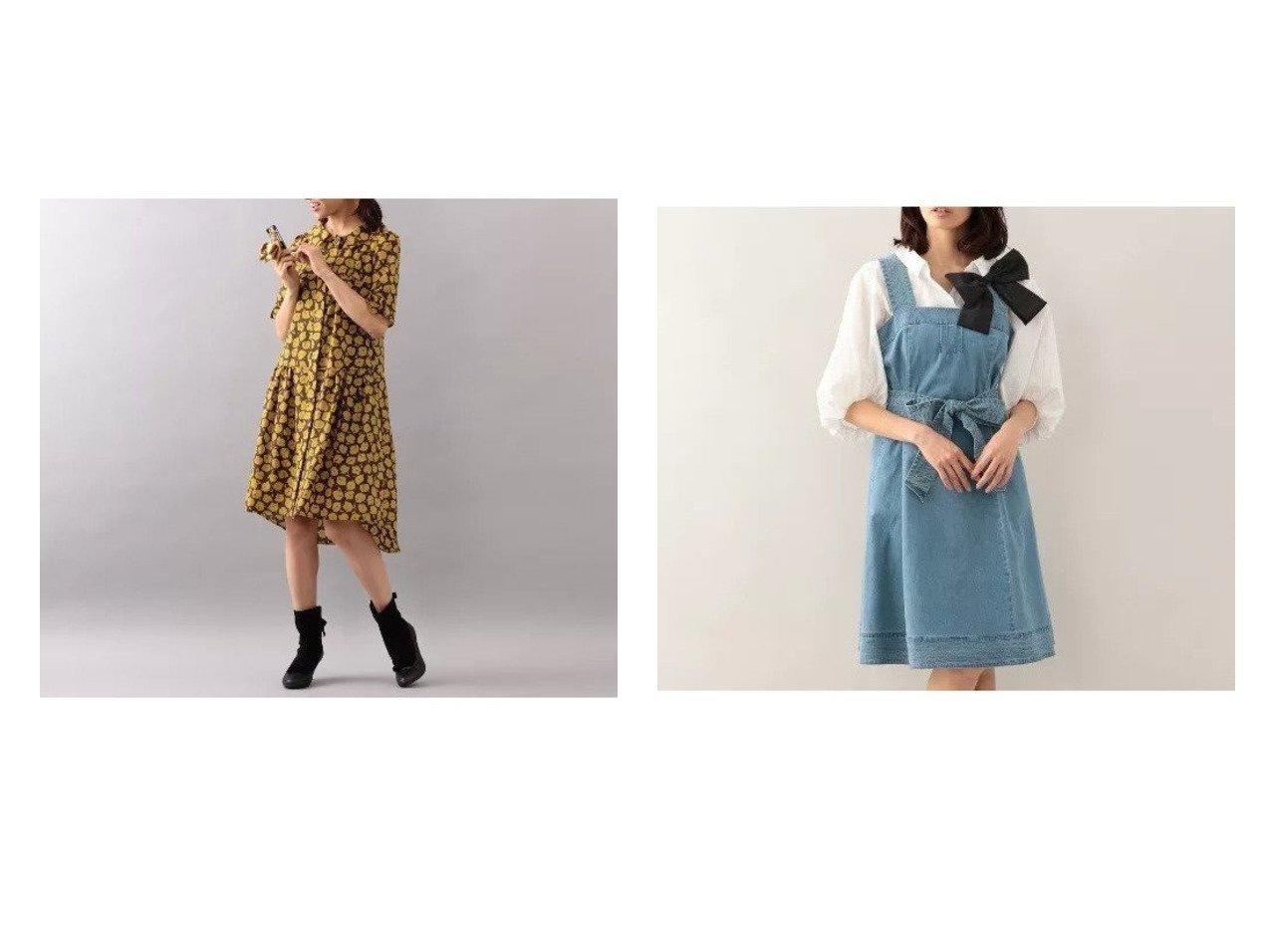 【TO BE CHIC/トゥー ビー シック】の【WEB限定】【Tricolore】コンパクトライトデニムドレス&【WEB限定】【Tricolore】ボンボンフラワープリントドレス 別注・限定・コラボなど、おすすめ!人気トレンド・レディースファッション通販 おすすめで人気の流行・トレンド、ファッションの通販商品 メンズファッション・キッズファッション・インテリア・家具・レディースファッション・服の通販 founy(ファニー) https://founy.com/ ファッション Fashion レディースファッション WOMEN ワンピース Dress ドレス Party Dresses アンダー ドレス フォーマル フラワー プリント ラウンド ロング 羽織 インナー カットソー デニム ノースリーブ リボン ワーク |ID:crp329100000015781