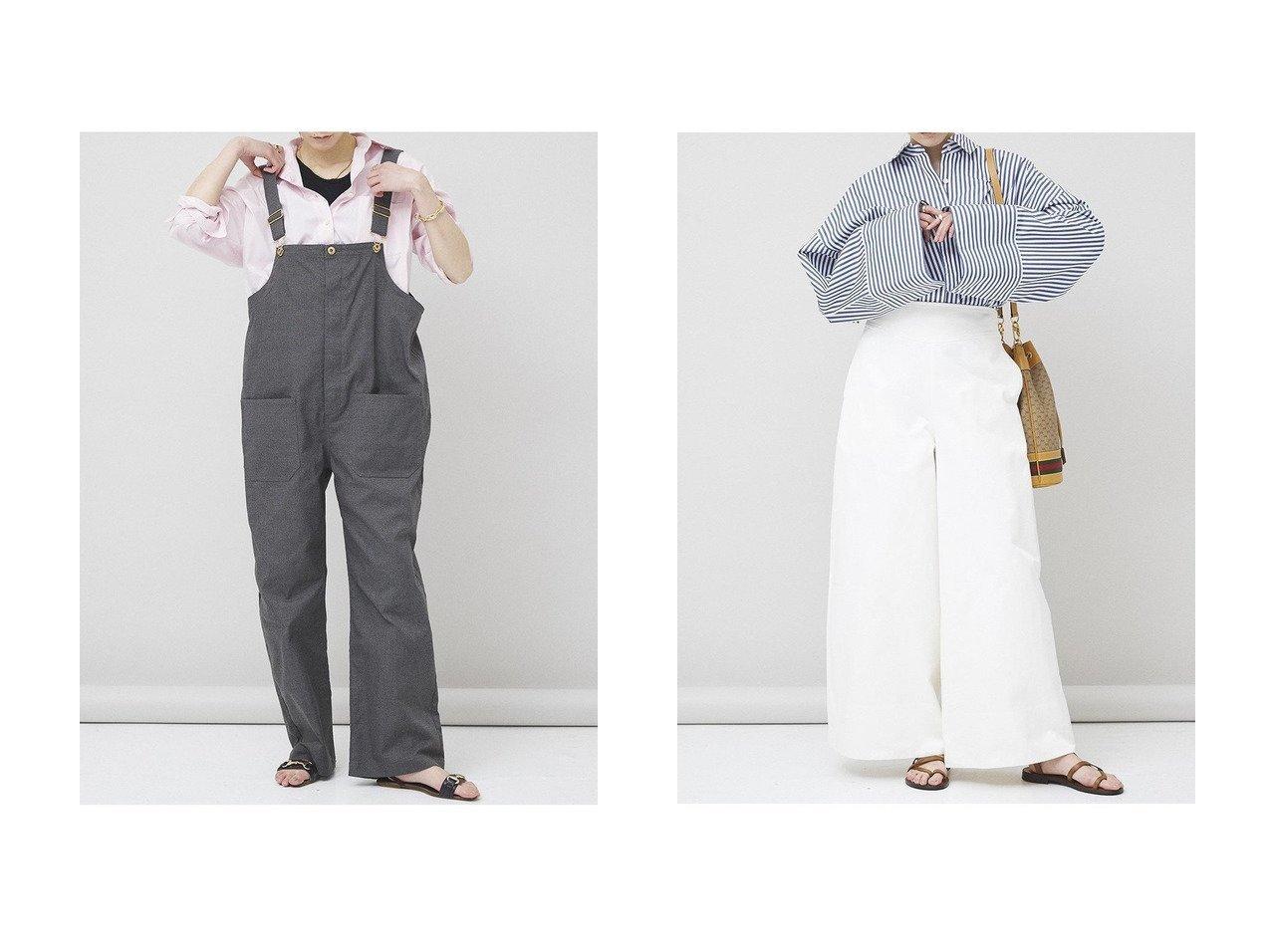 【Curensology/カレンソロジー】の【UNIVERSAL OVERALL】別注オーバーオール&コットンワイドパンツ パンツのおすすめ!人気、トレンド・レディースファッションの通販 おすすめで人気の流行・トレンド、ファッションの通販商品 メンズファッション・キッズファッション・インテリア・家具・レディースファッション・服の通販 founy(ファニー) https://founy.com/ ファッション Fashion レディースファッション WOMEN パンツ Pants 2021年 2021 2021 春夏 S/S SS Spring/Summer 2021 S/S 春夏 SS Spring/Summer 別注 春 Spring |ID:crp329100000015797