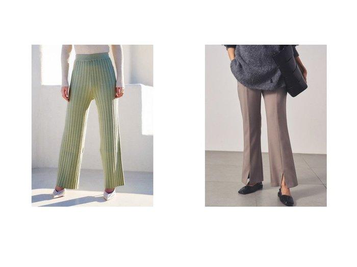【Darich/ダーリッチ】のワイドリブニットパンツ&【Mila Owen/ミラオーウェン】の3点SETスーツパンツ パンツのおすすめ!人気、トレンド・レディースファッションの通販 おすすめファッション通販アイテム レディースファッション・服の通販 founy(ファニー)  ファッション Fashion レディースファッション WOMEN パンツ Pants スーツ Suits スーツパンツ Pantsuit 2021年 2021 2021 春夏 S/S SS Spring/Summer 2021 S/S 春夏 SS Spring/Summer ワイド 春 Spring ジャケット スマート スリット スーツ フロント |ID:crp329100000015803