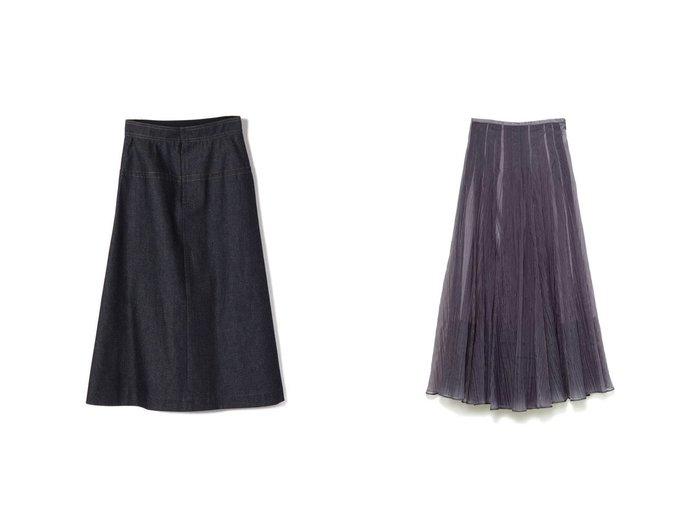 【SHIPS/シップス フォー ウィメン】のNell デニムAラインスカート&【SNIDEL/スナイデル】のシアータックボリュームスカート スカートのおすすめ!人気、トレンド・レディースファッションの通販 おすすめファッション通販アイテム インテリア・キッズ・メンズ・レディースファッション・服の通販 founy(ファニー) https://founy.com/ ファッション Fashion レディースファッション WOMEN スカート Skirt Aライン/フレアスカート Flared A-Line Skirts デニム エアリー オレンジ 春 Spring シアー スマート フレア ミックス 2021年 2021 S/S 春夏 SS Spring/Summer 2021 春夏 S/S SS Spring/Summer 2021 |ID:crp329100000015808