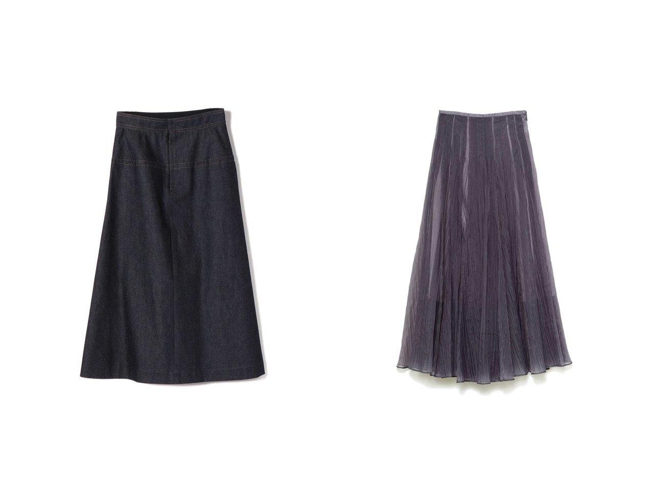 【SHIPS/シップス フォー ウィメン】のNell デニムAラインスカート&【SNIDEL/スナイデル】のシアータックボリュームスカート スカートのおすすめ!人気、トレンド・レディースファッションの通販 おすすめで人気の流行・トレンド、ファッションの通販商品 メンズファッション・キッズファッション・インテリア・家具・レディースファッション・服の通販 founy(ファニー) https://founy.com/ ファッション Fashion レディースファッション WOMEN スカート Skirt Aライン/フレアスカート Flared A-Line Skirts デニム エアリー オレンジ 春 Spring シアー スマート フレア ミックス 2021年 2021 S/S 春夏 SS Spring/Summer 2021 春夏 S/S SS Spring/Summer 2021 |ID:crp329100000015808