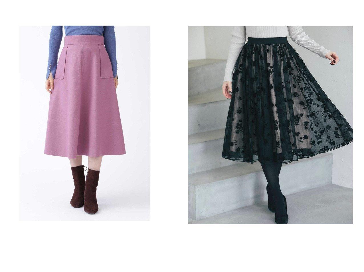 【JILLSTUART/ジルスチュアート】のクレアスカート&【tocco closet/トッコ クローゼット】のフロッキーフラワープリントボリュームチュールスカート スカートのおすすめ!人気、トレンド・レディースファッションの通販 おすすめで人気の流行・トレンド、ファッションの通販商品 メンズファッション・キッズファッション・インテリア・家具・レディースファッション・服の通販 founy(ファニー) https://founy.com/ ファッション Fashion レディースファッション WOMEN スカート Skirt Aライン/フレアスカート Flared A-Line Skirts フレア ポケット メルトン 冬 Winter ギャザー クラシカル シンプル チュール プリント ロマンティック  ID:crp329100000015813