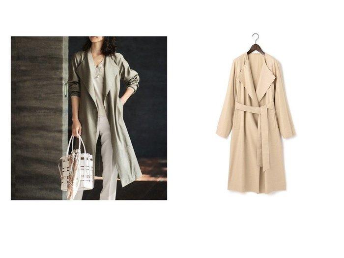 【NIJYUSANKU/23区】の【先行予約】Vintage Soft Twill コート アウターのおすすめ!人気、トレンド・レディースファッションの通販 おすすめファッション通販アイテム インテリア・キッズ・メンズ・レディースファッション・服の通販 founy(ファニー) https://founy.com/ ファッション Fashion レディースファッション WOMEN アウター Coat Outerwear コート Coats ジャケット Jackets エレガント ヴィンテージ 春 Spring クラシカル ジャケット ストレッチ ストール スリット スリーブ タンブラー タートル なめらか リネン リラックス ロング 2021年 2021 S/S 春夏 SS Spring/Summer 2021 春夏 S/S SS Spring/Summer 2021 送料無料 Free Shipping  ID:crp329100000015840