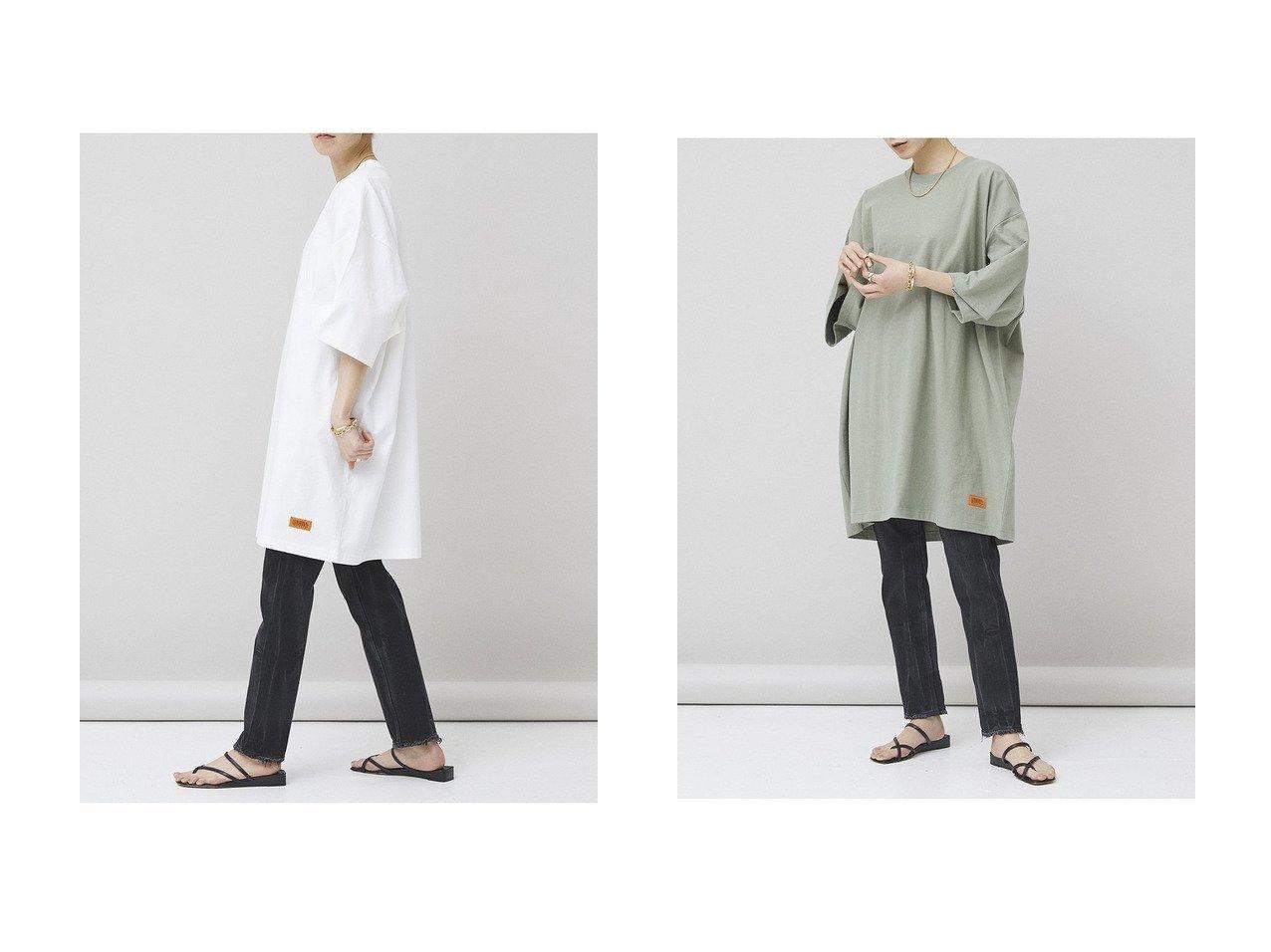 【Curensology/カレンソロジー】の【UNIVERSAL OVERALL】別注オーバーサイズTシャツ トップス・カットソーのおすすめ!人気、トレンド・レディースファッションの通販 おすすめで人気の流行・トレンド、ファッションの通販商品 メンズファッション・キッズファッション・インテリア・家具・レディースファッション・服の通販 founy(ファニー) https://founy.com/ ファッション Fashion レディースファッション WOMEN トップス Tops Tshirt シャツ/ブラウス Shirts Blouses ロング / Tシャツ T-Shirts カットソー Cut and Sewn 2021年 2021 2021 春夏 S/S SS Spring/Summer 2021 S/S 春夏 SS Spring/Summer ショート シンプル スリーブ 別注 春 Spring |ID:crp329100000015866