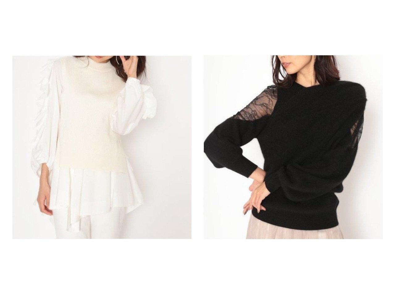 【SNIDEL/スナイデル】のニットドッキングパフスリブラウス&アシメレースコンビニットプルオーバー トップス・カットソーのおすすめ!人気、トレンド・レディースファッションの通販 おすすめで人気の流行・トレンド、ファッションの通販商品 メンズファッション・キッズファッション・インテリア・家具・レディースファッション・服の通販 founy(ファニー) https://founy.com/ ファッション Fashion レディースファッション WOMEN トップス Tops Tshirt ニット Knit Tops シャツ/ブラウス Shirts Blouses プルオーバー Pullover 1月号 イレギュラーヘム コンパクト シンプル セパレート デニム トレンド ドッキング バランス フェミニン フリル ベスト ミックス モックネック 再入荷 Restock/Back in Stock/Re Arrival |ID:crp329100000015868