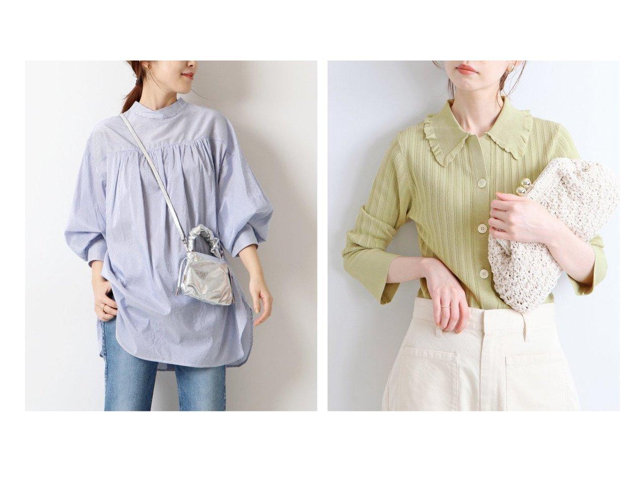 【IENA/イエナ】の【マリリンムーン】リブカーディガン&【Spick & Span/スピック&スパン】のコットンシルク2WAYシャツ トップス・カットソーのおすすめ!人気、トレンド・レディースファッションの通販 おすすめで人気の流行・トレンド、ファッションの通販商品 メンズファッション・キッズファッション・インテリア・家具・レディースファッション・服の通販 founy(ファニー) https://founy.com/ ファッション Fashion レディースファッション WOMEN トップス Tops Tshirt シャツ/ブラウス Shirts Blouses カーディガン Cardigans 2021年 2021 2021 春夏 S/S SS Spring/Summer 2021 S/S 春夏 SS Spring/Summer カットソー ギャザー シルク ハイネック フェミニン 春 Spring NEW・新作・新着・新入荷 New Arrivals カーディガン フリル |ID:crp329100000015878