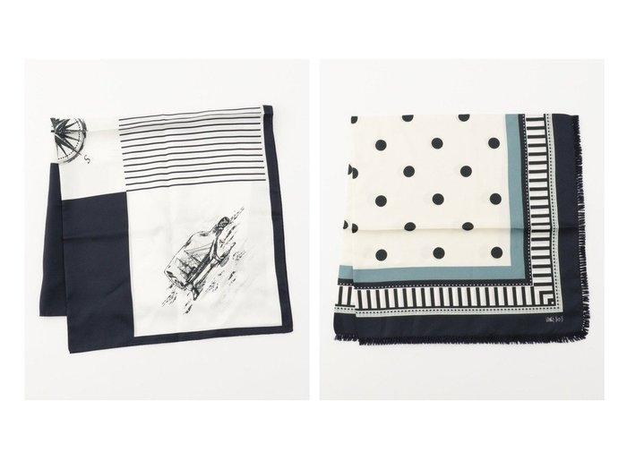 【NIJYUSANKU/23区】の【先行予約】マリン スカーフ&【先行予約】ボーダードット スカーフ おすすめ!人気、トレンド・レディースファッションの通販  おすすめファッション通販アイテム レディースファッション・服の通販 founy(ファニー) ファッション Fashion レディースファッション WOMEN 送料無料 Free Shipping 2021年 2021 2021 春夏 S/S SS Spring/Summer 2021 S/S 春夏 SS Spring/Summer シルク スカーフ ボーダー モチーフ コンビ ドット フリンジ |ID:crp329100000015938