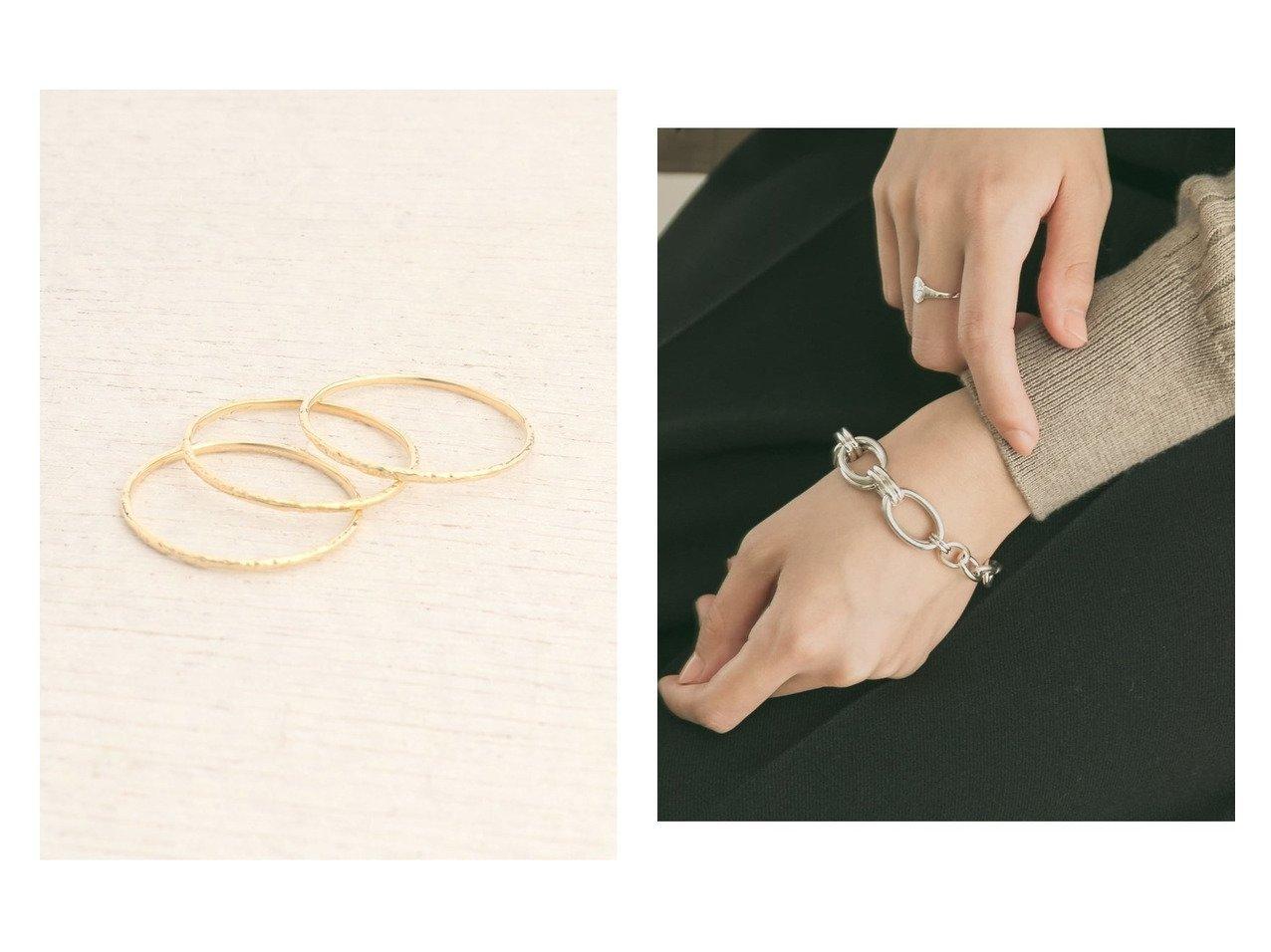 【URBAN RESEARCH/アーバンリサーチ】のPHILIPPE AUDIBERT Rony bracelet&【RiRa/リラ】のAG テクスチャー3ボンリングK10 おすすめ!人気、トレンド・レディースファッションの通販  おすすめで人気の流行・トレンド、ファッションの通販商品 メンズファッション・キッズファッション・インテリア・家具・レディースファッション・服の通販 founy(ファニー) https://founy.com/ ファッション Fashion レディースファッション WOMEN ジュエリー Jewelry ブレスレット Bracelets アクセサリー ジュエリー テクスチャー パール ベーシック シンプル スタイリッシュ フランス ブレスレット |ID:crp329100000015942
