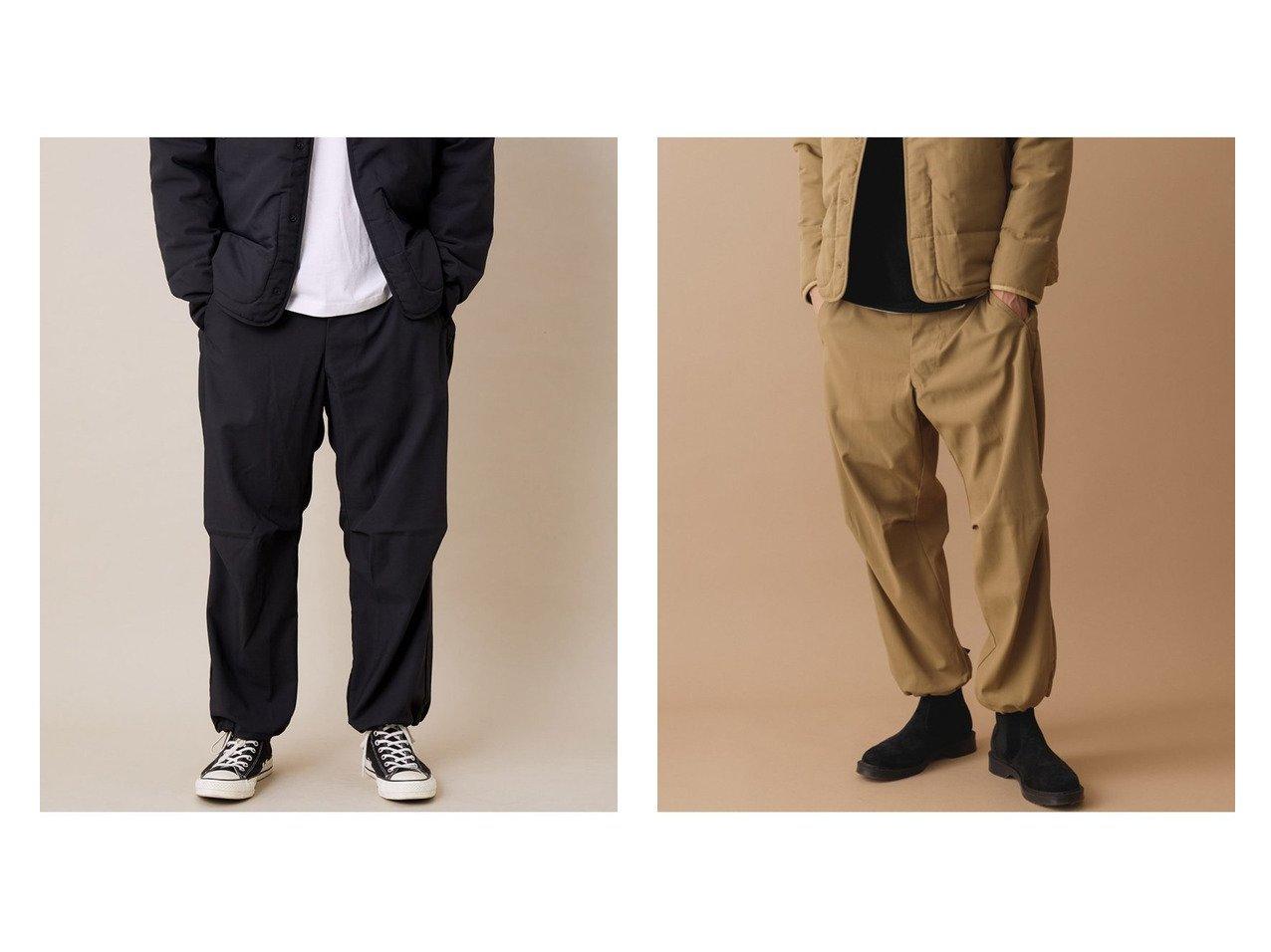 【Adam et Rope / MEN/アダムエロペ 】の【DESCENTE ddd】別注 CARGO PANTS 【MEN】別注・限定・コラボなど、おすすめ!人気トレンド・メンズファッション通販 おすすめで人気の流行・トレンド、ファッションの通販商品 メンズファッション・キッズファッション・インテリア・家具・レディースファッション・服の通販 founy(ファニー) https://founy.com/ ファッション Fashion メンズファッション MEN ボトムス Bottoms Men カーゴパンツ ジーンズ ストレッチ プリーツ 別注 |ID:crp329100000015969