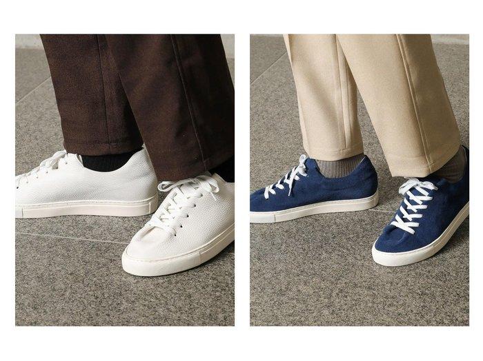 【Men's Bigi / MEN/メンズビギトーキョー】の42nd ROYAL HIGHLAND 別注レザースニーカー 【MEN】別注・限定・コラボなど、おすすめ!人気トレンド・メンズファッション通販 おすすめファッション通販アイテム レディースファッション・服の通販 founy(ファニー) ファッション Fashion メンズファッション MEN シューズ・靴 Shoes Men スニーカー Sneakers シューズ スエード スニーカー スペシャル スリッポン スリム デニム 別注 NEW・新作・新着・新入荷 New Arrivals |ID:crp329100000015981