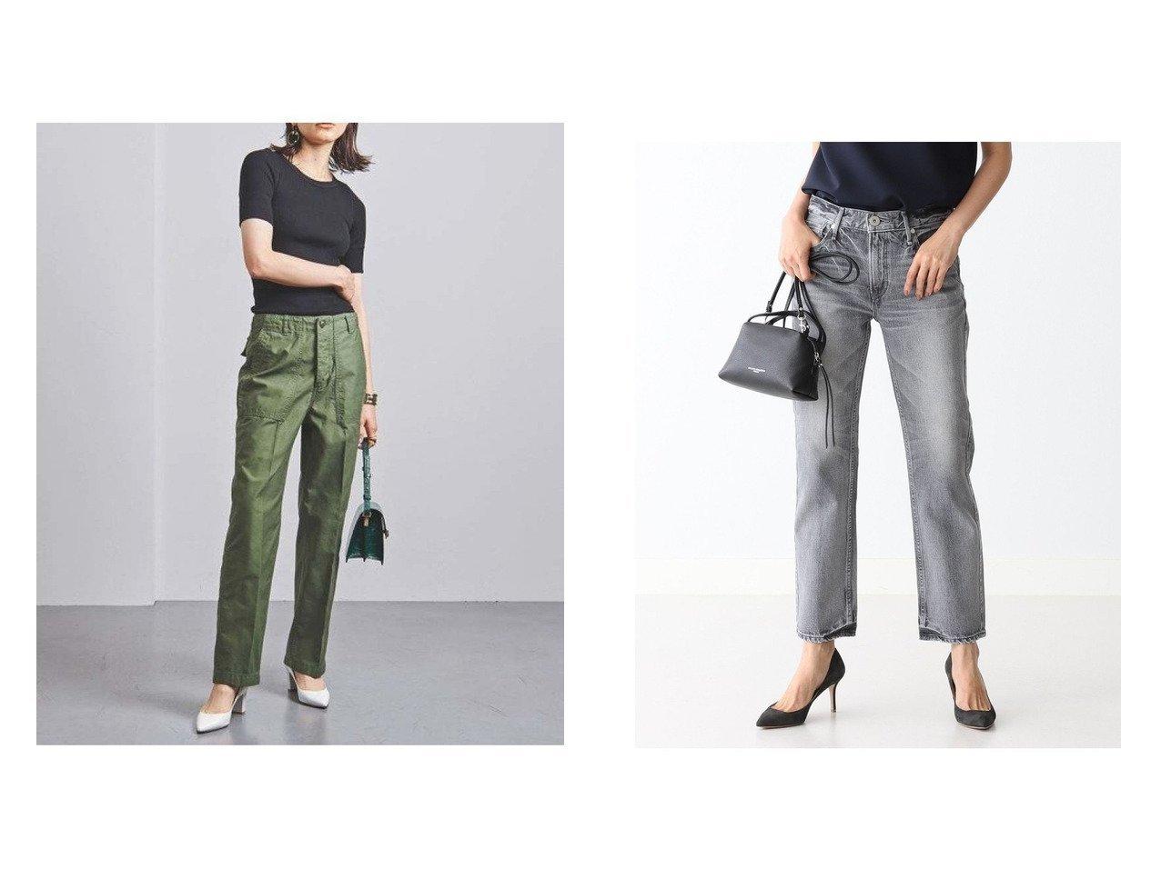 【UNITED ARROWS/ユナイテッドアローズ】のUWSC ベイカーパンツ†&【Demi-Luxe BEAMS/デミルクス ビームス】のTHE LIPSTICK デニムパンツ パンツのおすすめ!人気、トレンド・レディースファッションの通販 おすすめで人気の流行・トレンド、ファッションの通販商品 メンズファッション・キッズファッション・インテリア・家具・レディースファッション・服の通販 founy(ファニー) https://founy.com/ ファッション Fashion レディースファッション WOMEN パンツ Pants デニムパンツ Denim Pants ジーンズ スニーカー センター リラックス デニム パターン フィット  ID:crp329100000016051
