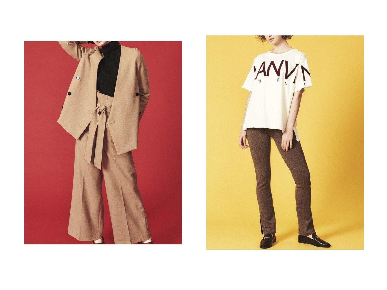 【LANVIN en Bleu/ランバン オン ブルー】のスリットニットパンツ&ハイウエストベルトパンツ パンツのおすすめ!人気、トレンド・レディースファッションの通販 おすすめで人気の流行・トレンド、ファッションの通販商品 メンズファッション・キッズファッション・インテリア・家具・レディースファッション・服の通販 founy(ファニー) https://founy.com/ ファッション Fashion レディースファッション WOMEN パンツ Pants ベルト Belts バランス ベーシック レギンス 今季 コンパクト ジャケット セットアップ ワイド  ID:crp329100000016062