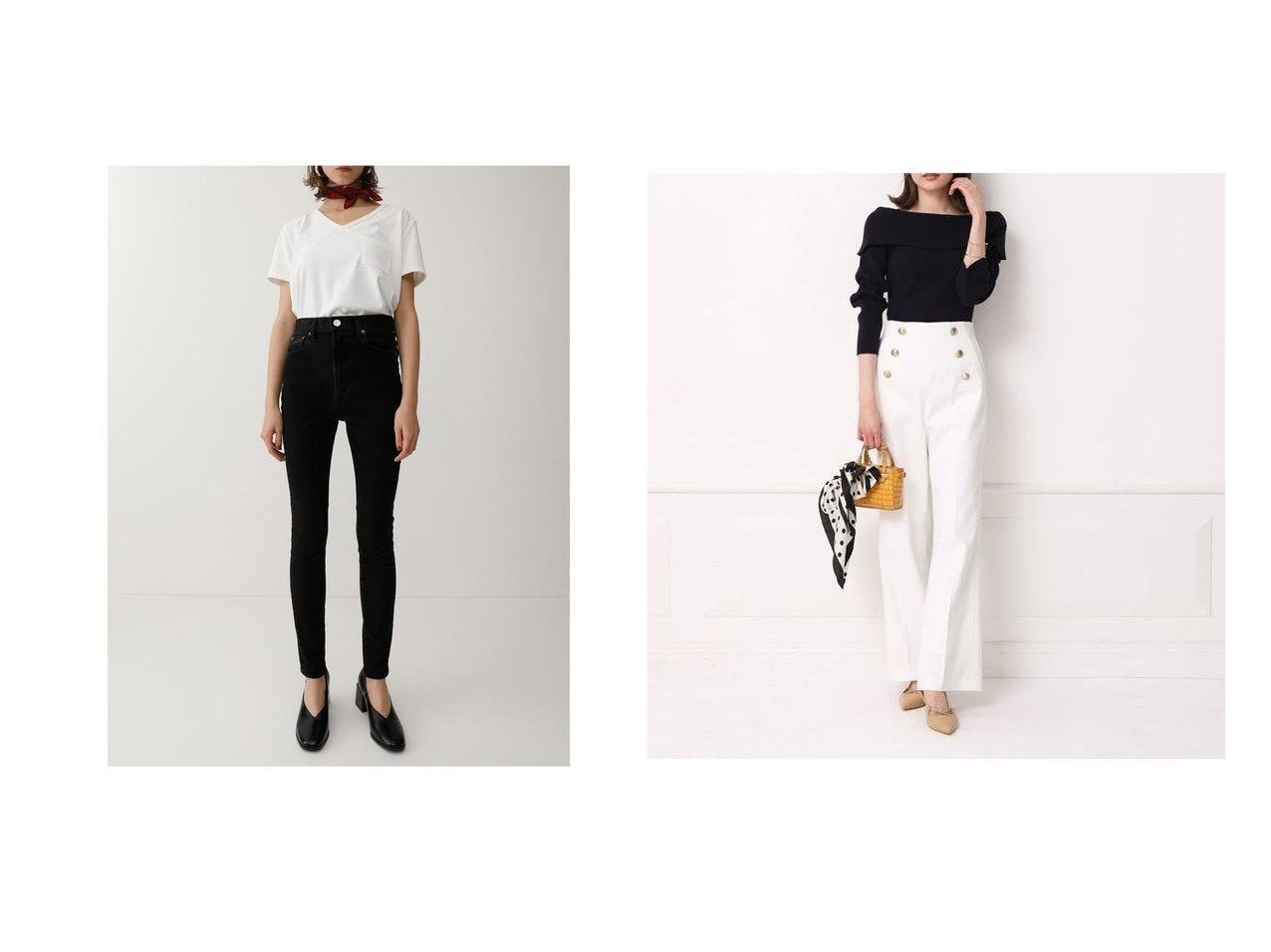 【moussy/マウジー】のBLACK SKINNY&【Apuweiser-riche/アプワイザーリッシェ】のマリンパンツ パンツのおすすめ!人気、トレンド・レディースファッションの通販 おすすめで人気の流行・トレンド、ファッションの通販商品 メンズファッション・キッズファッション・インテリア・家具・レディースファッション・服の通販 founy(ファニー) https://founy.com/ ファッション Fashion レディースファッション WOMEN パンツ Pants デニムパンツ Denim Pants エレガント フロント 再入荷 Restock/Back in Stock/Re Arrival |ID:crp329100000016067