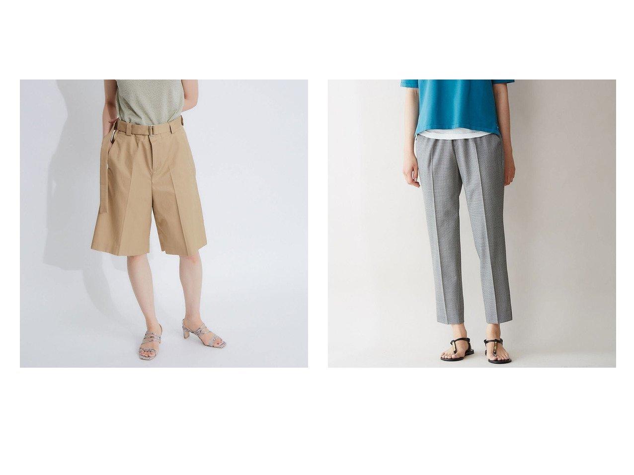 【qualite/カリテ】の《セットアップで使える!》ウールストレッチテーパードパンツ&ハーフパンツ パンツのおすすめ!人気、トレンド・レディースファッションの通販 おすすめで人気の流行・トレンド、ファッションの通販商品 メンズファッション・キッズファッション・インテリア・家具・レディースファッション・服の通販 founy(ファニー) https://founy.com/ ファッション Fashion レディースファッション WOMEN パンツ Pants ハーフ / ショートパンツ Short Pants セットアップ Setup パンツ Pants 2020年 2020 2020 春夏 S/S SS Spring/Summer 2020 S/S 春夏 SS Spring/Summer ショート ストレート センター ハーフ バランス 今季 春 Spring 秋 Autumn/Fall サンダル シューズ ストレッチ スリット セットアップ トレンド フラット |ID:crp329100000016073