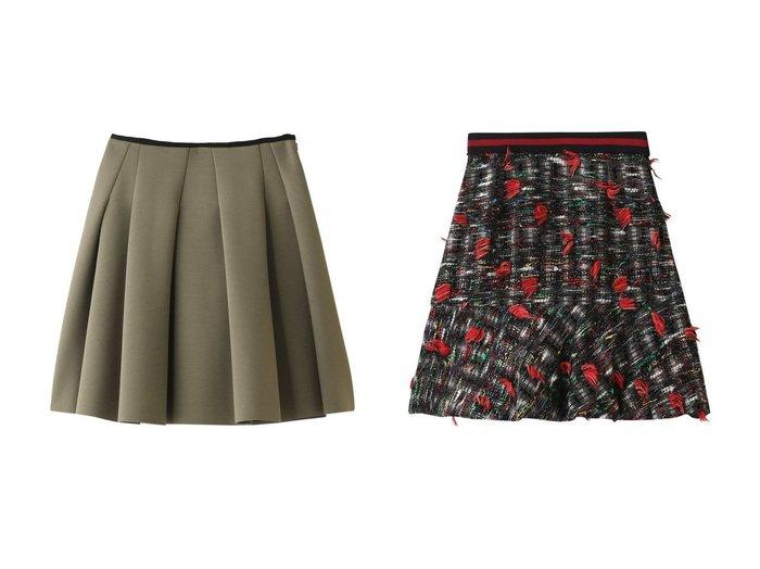 【LANVIN en Bleu/ランバン オン ブルー】のフリンジツイードスカート&ダンボールニットスカート スカートのおすすめ!人気、トレンド・レディースファッションの通販 おすすめファッション通販アイテム インテリア・キッズ・メンズ・レディースファッション・服の通販 founy(ファニー) https://founy.com/ ファッション Fashion レディースファッション WOMEN スカート Skirt ツィード フリンジ 台形 シンプル フェミニン フレア  ID:crp329100000016078
