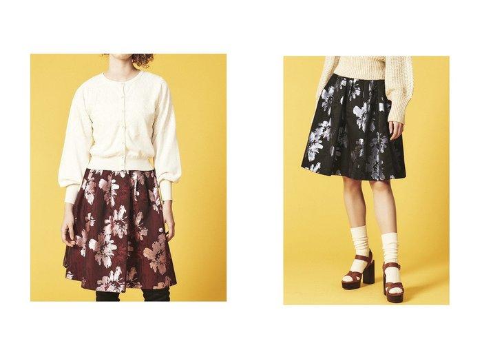 【LANVIN en Bleu/ランバン オン ブルー】のメタリックフラワージャガードスカート スカートのおすすめ!人気、トレンド・レディースファッションの通販 おすすめファッション通販アイテム インテリア・キッズ・メンズ・レディースファッション・服の通販 founy(ファニー) https://founy.com/ ファッション Fashion レディースファッション WOMEN スカート Skirt カットソー ジャカード フラワー フレア メタリック  ID:crp329100000016081