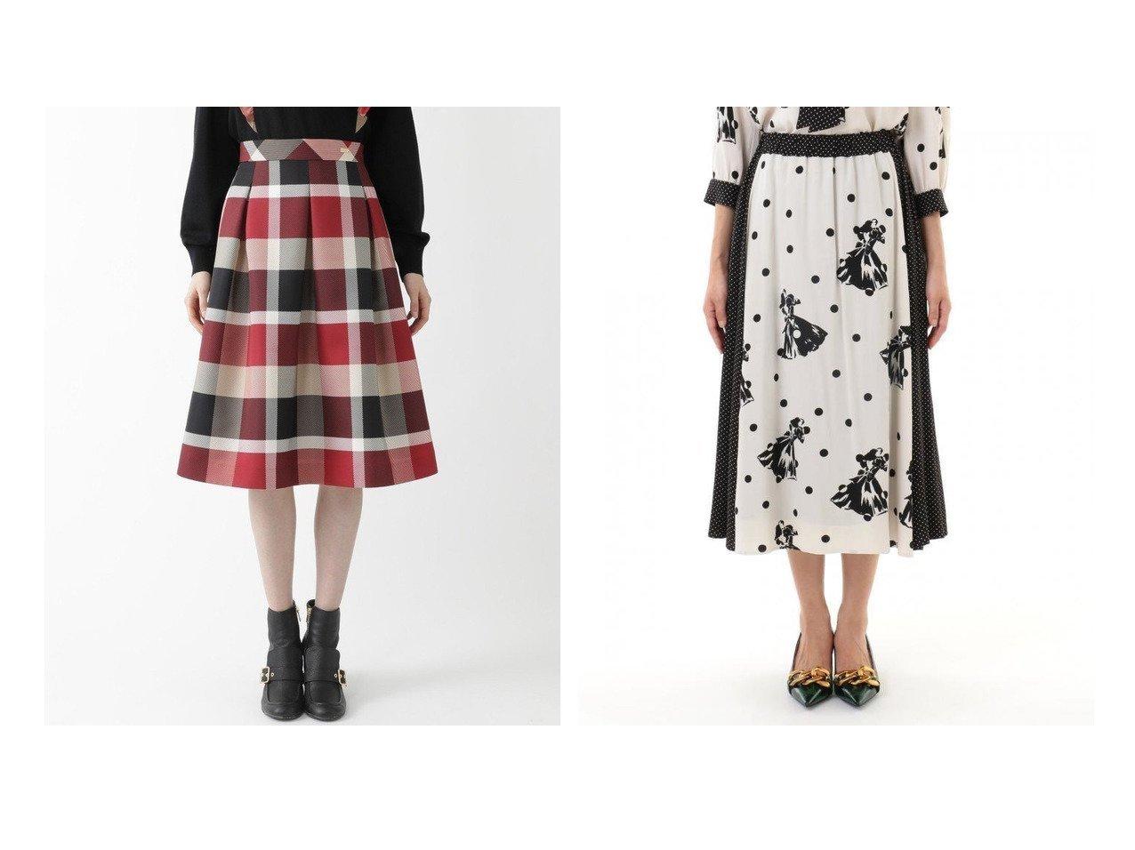 【GRACE CONTINENTAL/グレース コンチネンタル】のダンサードット切替スカート&【BLUE LABEL CRESTBRIDGE/ブルーレーベル クレストブリッジ】のクレストブリッジチェックグログランプリントスカート スカートのおすすめ!人気、トレンド・レディースファッションの通販 おすすめで人気の流行・トレンド、ファッションの通販商品 メンズファッション・キッズファッション・インテリア・家具・レディースファッション・服の通販 founy(ファニー) https://founy.com/ ファッション Fashion レディースファッション WOMEN スカート Skirt セットアップ ドット ヴィンテージ 再入荷 Restock/Back in Stock/Re Arrival 切替 NEW・新作・新着・新入荷 New Arrivals コンパクト リブニット |ID:crp329100000016088