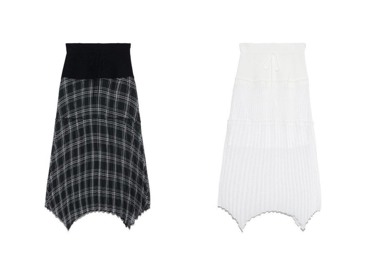 【FURFUR/ファーファー】のシアーチェックコンビスカート スカートのおすすめ!人気、トレンド・レディースファッションの通販 おすすめで人気の流行・トレンド、ファッションの通販商品 メンズファッション・キッズファッション・インテリア・家具・レディースファッション・服の通販 founy(ファニー) https://founy.com/ ファッション Fashion レディースファッション WOMEN スカート Skirt スウェット スマート セットアップ セーター プリーツ 再入荷 Restock/Back in Stock/Re Arrival |ID:crp329100000016089