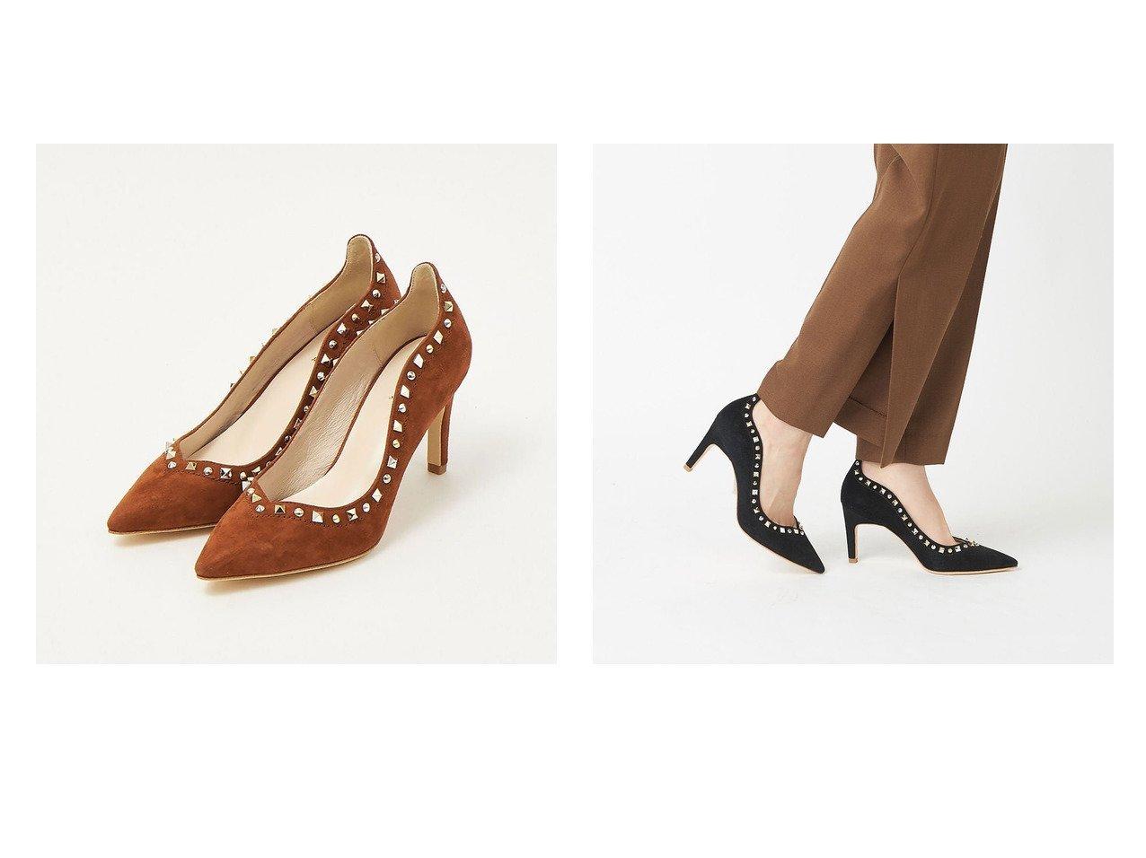 【Au BANNISTER/オゥ バニスター】のミックススタッズパンプス シューズ・靴のおすすめ!人気、トレンド・レディースファッションの通販 おすすめで人気の流行・トレンド、ファッションの通販商品 メンズファッション・キッズファッション・インテリア・家具・レディースファッション・服の通販 founy(ファニー) https://founy.com/ ファッション Fashion レディースファッション WOMEN  ID:crp329100000016108