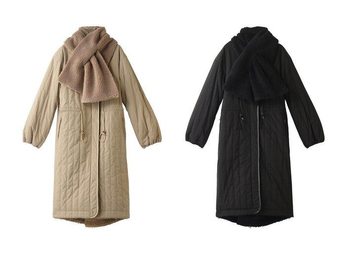 【LANVIN en Bleu/ランバン オン ブルー】のリバーシブルボアコート アウターのおすすめ!人気、トレンド・レディースファッションの通販  おすすめ人気トレンドファッション通販アイテム インテリア・キッズ・メンズ・レディースファッション・服の通販 founy(ファニー) https://founy.com/ ファッション Fashion レディースファッション WOMEN アウター Coat Outerwear コート Coats キルティング スヌード トレンド ロング 今季 防寒 |ID:crp329100000016132