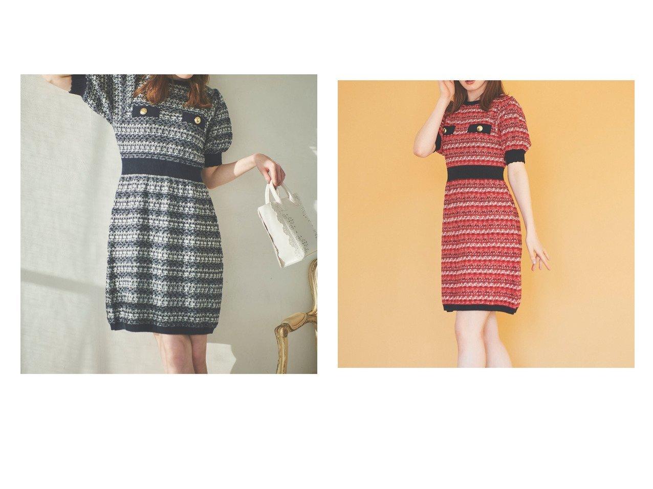 【31 Sons de mode/トランテアン ソン ドゥ モード】のツイーディーニットミニワンピ ワンピース・ドレスのおすすめ!人気、トレンド・レディースファッションの通販 おすすめで人気の流行・トレンド、ファッションの通販商品 メンズファッション・キッズファッション・インテリア・家具・レディースファッション・服の通販 founy(ファニー) https://founy.com/ ファッション Fashion レディースファッション WOMEN ワンピース Dress NEW・新作・新着・新入荷 New Arrivals 2021年 2021 2021 春夏 S/S SS Spring/Summer 2021 S/S 春夏 SS Spring/Summer スカラップ ツイード |ID:crp329100000016168