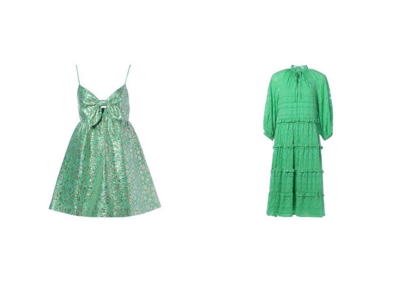 【ALICE+OLIVIA/アリス アンド オリビア】のMELVINA BABYDOLL DRESS&LAYLA MIDI DRESS ワンピース・ドレスのおすすめ!人気、トレンド・レディースファッションの通販 おすすめで人気の流行・トレンド、ファッションの通販商品 メンズファッション・キッズファッション・インテリア・家具・レディースファッション・服の通販 founy(ファニー) https://founy.com/ ファッション Fashion レディースファッション WOMEN ワンピース Dress ドレス Party Dresses ジャカード ドレス フォーマル フロント リボン スウィート スタイリッシュ フリル |ID:crp329100000016179