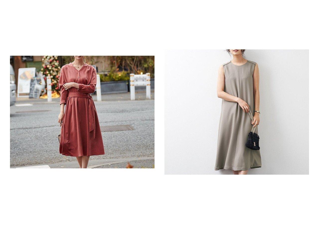 【Rouge vif la cle/ルージュヴィフラクレ】の【新色追加】ベルト付ショルダータックワンピース&Aラインフレアワンピース ワンピース・ドレスのおすすめ!人気、トレンド・レディースファッションの通販 おすすめで人気の流行・トレンド、ファッションの通販商品 メンズファッション・キッズファッション・インテリア・家具・レディースファッション・服の通販 founy(ファニー) https://founy.com/ ファッション Fashion レディースファッション WOMEN ワンピース Dress ベルト Belts A/W 秋冬 AW Autumn/Winter / FW Fall-Winter オケージョン 春 Spring シンプル ジップ フォーマル |ID:crp329100000016180