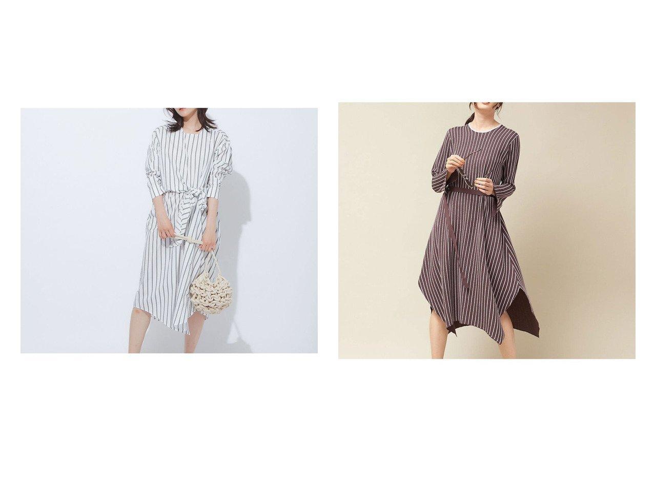 【qualite/カリテ】のストライプウエストクロスワンピース&ネップストライプニットワンピース ワンピース・ドレスのおすすめ!人気、トレンド・レディースファッションの通販 おすすめで人気の流行・トレンド、ファッションの通販商品 メンズファッション・キッズファッション・インテリア・家具・レディースファッション・服の通販 founy(ファニー) https://founy.com/ ファッション Fashion レディースファッション WOMEN ワンピース Dress ニットワンピース Knit Dresses 2020年 2020 2020 春夏 S/S SS Spring/Summer 2020 S/S 春夏 SS Spring/Summer エレガント サンダル シンプル ストライプ フレア リボン ロング 春 Spring |ID:crp329100000016185
