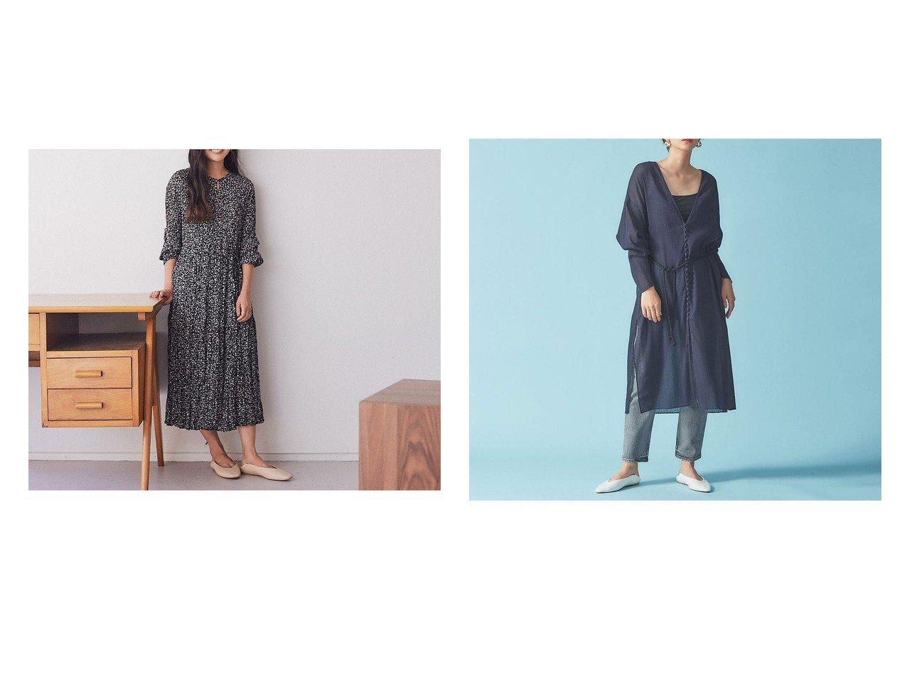 【Rouge vif la cle/ルージュヴィフラクレ】のコットン楊柳ガウンワンピース&【Mylanka】フラワープリントプリーツワンピース ワンピース・ドレスのおすすめ!人気、トレンド・レディースファッションの通販 おすすめで人気の流行・トレンド、ファッションの通販商品 メンズファッション・キッズファッション・インテリア・家具・レディースファッション・服の通販 founy(ファニー) https://founy.com/ ファッション Fashion レディースファッション WOMEN ワンピース Dress シューズ スウェット フラット フラワー プリント プリーツ ロング A/W 秋冬 AW Autumn/Winter / FW Fall-Winter 2020年 2020 2020-2021 秋冬 A/W AW Autumn/Winter / FW Fall-Winter 2020-2021 S/S 春夏 SS Spring/Summer ガウン スリット デニム フロント リボン 春 Spring |ID:crp329100000016186