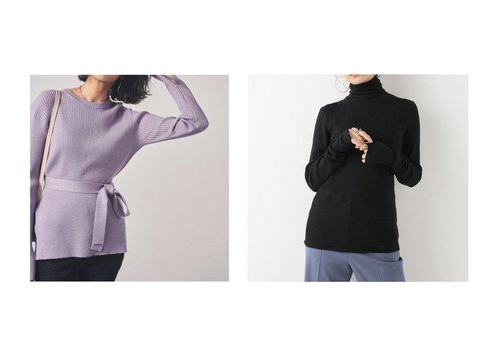 【Plage/プラージュ】のsuper100s jersey turtle ニット&【Mila Owen/ミラオーウェン】のリボン付クルーネックリブニット トップス・カットソーのおすすめ!人気、トレンド・レディースファッションの通販  おすすめファッション通販アイテム レディースファッション・服の通販 founy(ファニー) ファッション Fashion レディースファッション WOMEN トップス Tops Tshirt ニット Knit Tops スマート セーター リブニット リボン 2020年 2020 2020-2021 秋冬 A/W AW Autumn/Winter / FW Fall-Winter 2020-2021 A/W 秋冬 AW Autumn/Winter / FW Fall-Winter カットソー フィット  ID:crp329100000016212