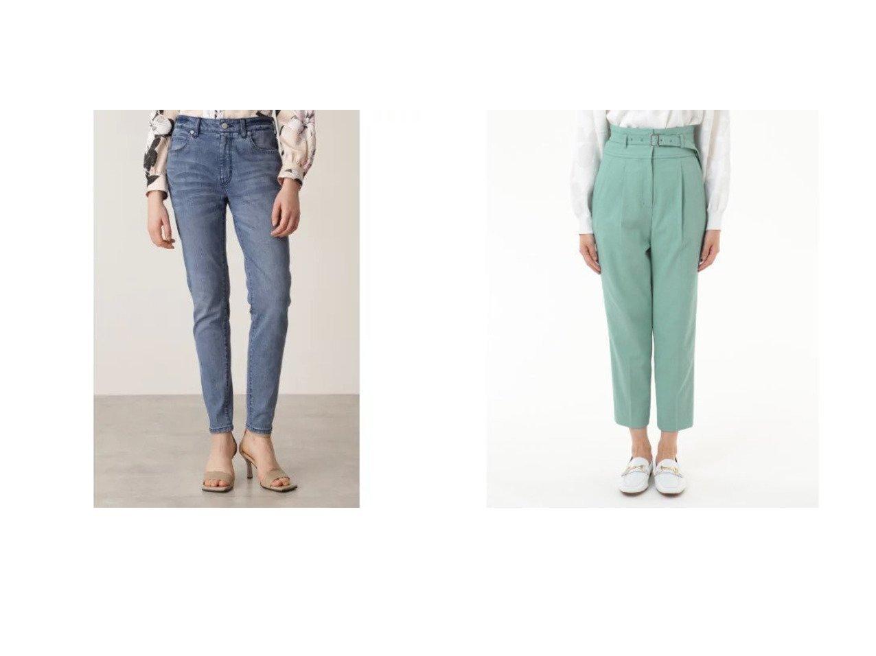 【Pinky&Dianne/ピンキーアンドダイアン】のスリムフィットジーンズ&【GRACE CONTINENTAL/グレース コンチネンタル】のワンタックスリムパンツ パンツのおすすめ!人気、トレンド・レディースファッションの通販 おすすめで人気の流行・トレンド、ファッションの通販商品 メンズファッション・キッズファッション・インテリア・家具・レディースファッション・服の通販 founy(ファニー) https://founy.com/ ファッション Fashion レディースファッション WOMEN パンツ Pants ストレッチ スマート スリム フィット |ID:crp329100000016271