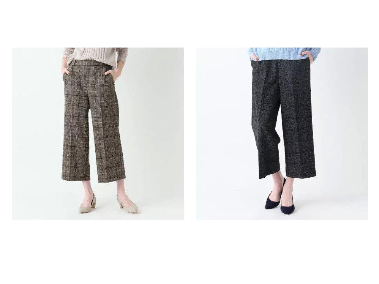 【SOFUOL/ソフール】のウールツイードチェッククロップドパンツ パンツのおすすめ!人気、トレンド・レディースファッションの通販 おすすめで人気の流行・トレンド、ファッションの通販商品 メンズファッション・キッズファッション・インテリア・家具・レディースファッション・服の通販 founy(ファニー) https://founy.com/ ファッション Fashion レディースファッション WOMEN パンツ Pants シンプル センター チェック ツィード ツイード ポケット リラックス 人気 定番 Standard 無地 |ID:crp329100000016278