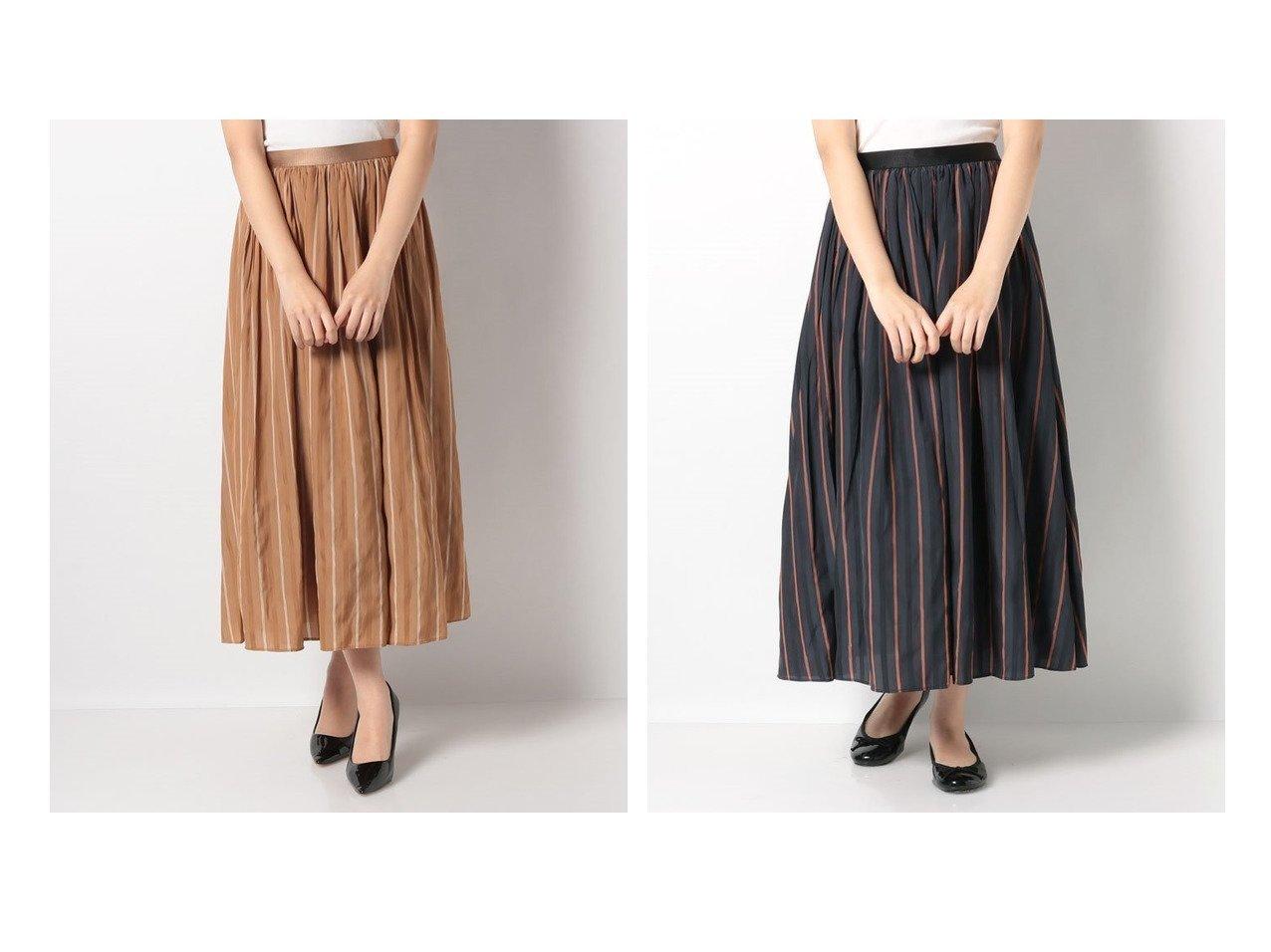 【en recre/アン レクレ】の【BEATRICE】配色ストライプロングスカート スカートのおすすめ!人気、トレンド・レディースファッションの通販 おすすめで人気の流行・トレンド、ファッションの通販商品 メンズファッション・キッズファッション・インテリア・家具・レディースファッション・服の通販 founy(ファニー) https://founy.com/ ファッション Fashion レディースファッション WOMEN スカート Skirt Aライン/フレアスカート Flared A-Line Skirts ロングスカート Long Skirt NEW・新作・新着・新入荷 New Arrivals ギャザー ストライプ フェミニン フレア ロング |ID:crp329100000016292
