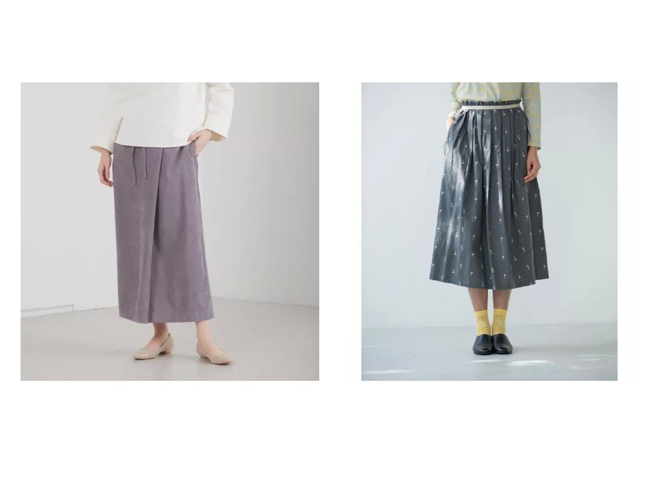 【abahouse mavie/アバハウスマヴィ】の【EC先行予約】ecru ライスコールスカート&【Sally Scott/サリースコット】のスカート スカートのおすすめ!人気、トレンド・レディースファッションの通販 おすすめで人気の流行・トレンド、ファッションの通販商品 メンズファッション・キッズファッション・インテリア・家具・レディースファッション・服の通販 founy(ファニー) https://founy.com/ ファッション Fashion レディースファッション WOMEN スカート Skirt 春 Spring コンパクト シンプル スニーカー スリット ブルゾン マキシ ロング |ID:crp329100000016294