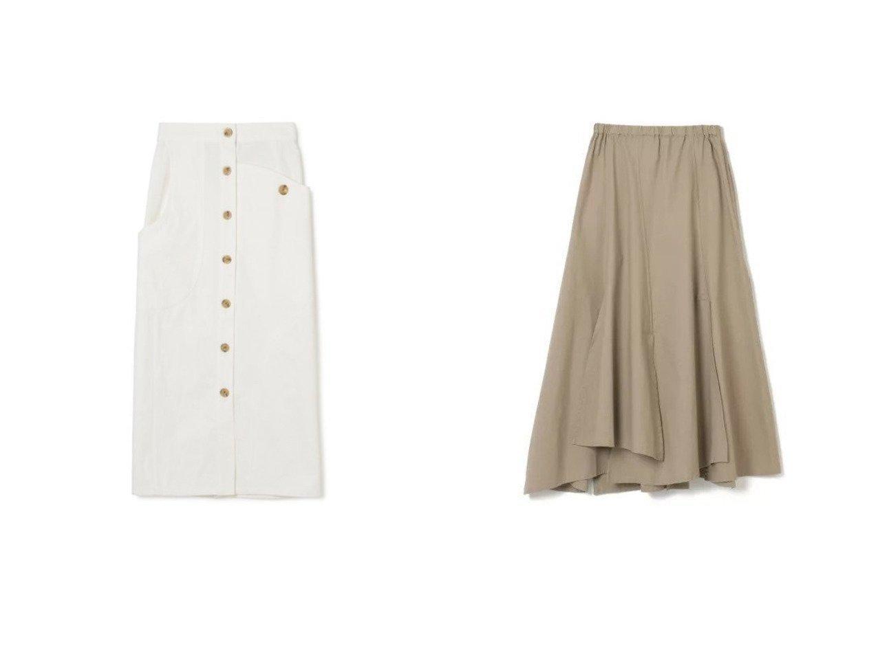 【AKIRANAKA/アキラナカ】のIrregular pocket white denim skirt&【FLORENT/フローレント】のCOTTON SHEETING スカートのおすすめ!人気、トレンド・レディースファッションの通販 おすすめで人気の流行・トレンド、ファッションの通販商品 メンズファッション・キッズファッション・インテリア・家具・レディースファッション・服の通販 founy(ファニー) https://founy.com/ ファッション Fashion レディースファッション WOMEN スカート Skirt デニムスカート Denim Skirts 2021年 2021 2021 春夏 S/S SS Spring/Summer 2021 S/S 春夏 SS Spring/Summer アシンメトリー カッティング スタイリッシュ センター フロント ポケット マキシ ロング エレガント ギャザー 洗える |ID:crp329100000016295