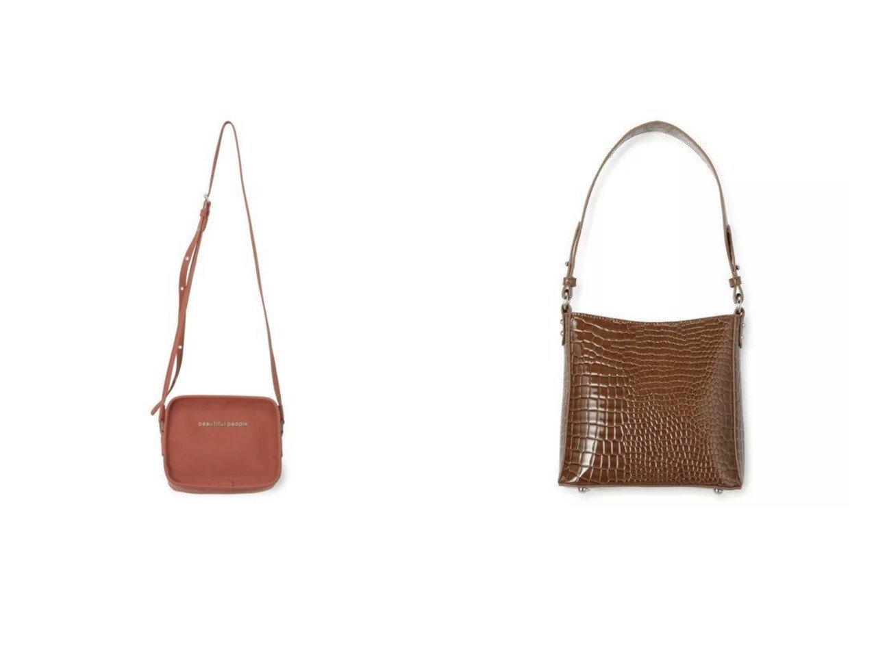 【beautiful people/ビューティフル ピープル】のpoketable shoppingbag&【HVISK/ヴィスク】のAMBLE CROCO SMALL バッグ・鞄のおすすめ!人気、トレンド・レディースファッションの通販 おすすめで人気の流行・トレンド、ファッションの通販商品 メンズファッション・キッズファッション・インテリア・家具・レディースファッション・服の通販 founy(ファニー) https://founy.com/ ファッション Fashion レディースファッション WOMEN バッグ Bag 2021年 2021 2021 春夏 S/S SS Spring/Summer 2021 S/S 春夏 SS Spring/Summer ボックス ポケット 今季 エレガント クロコ スマート ハンドバッグ フォルム フォーマル  ID:crp329100000016331