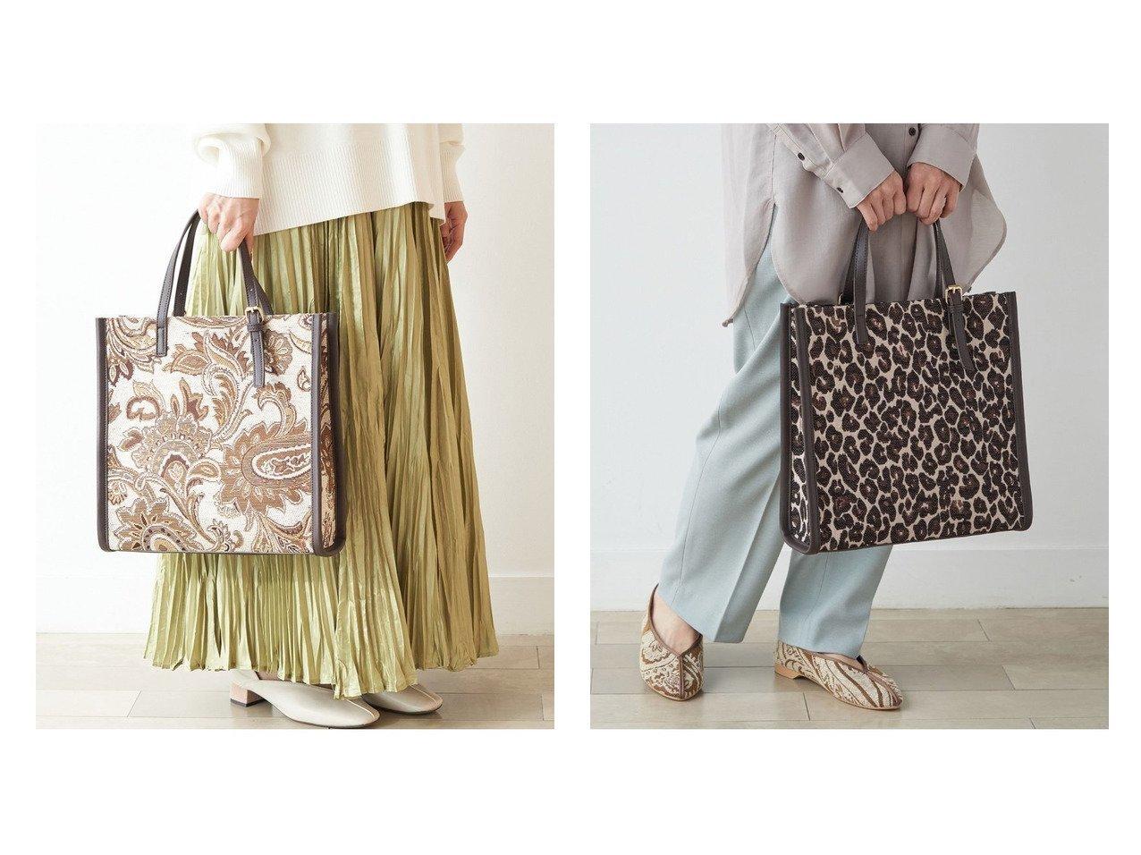 【ROPE'PICNIC PASSAGE/ロペピクニック パサージュ】のジャガードコンビバックルハンドルトート ショルダーバッグ バッグ・鞄のおすすめ!人気、トレンド・レディースファッションの通販 おすすめで人気の流行・トレンド、ファッションの通販商品 メンズファッション・キッズファッション・インテリア・家具・レディースファッション・服の通販 founy(ファニー) https://founy.com/ ファッション Fashion レディースファッション WOMEN バッグ Bag NEW・新作・新着・新入荷 New Arrivals ペイズリー レオパード  ID:crp329100000016347