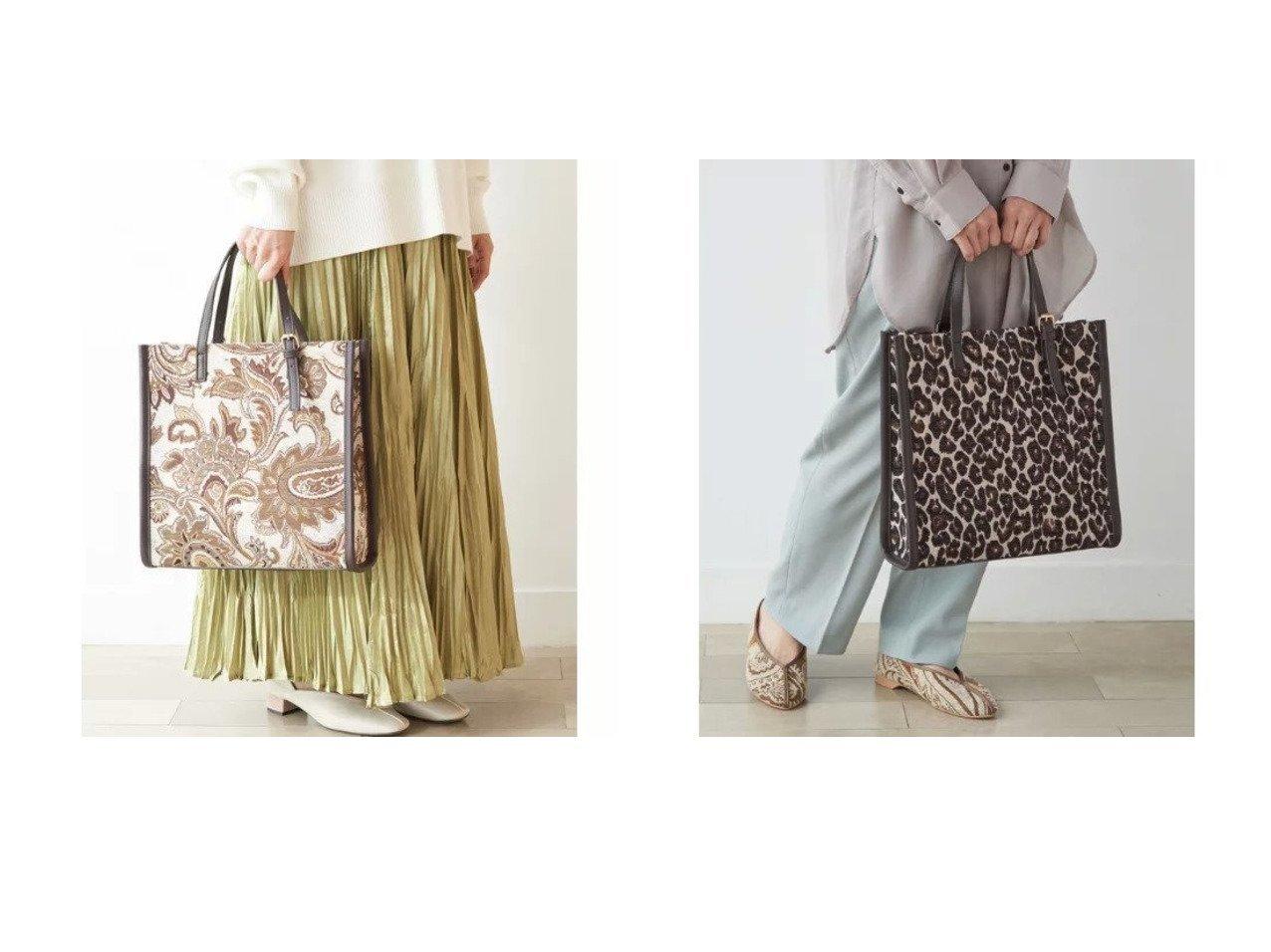【Rope Picnic/ロペピクニック】のジャガードコンビバックルハンドルトート&ショルダーバッグ バッグ・鞄のおすすめ!人気、トレンド・レディースファッションの通販 おすすめで人気の流行・トレンド、ファッションの通販商品 メンズファッション・キッズファッション・インテリア・家具・レディースファッション・服の通販 founy(ファニー) https://founy.com/ ファッション Fashion レディースファッション WOMEN バッグ Bag ペイズリー ポケット レオパード  ID:crp329100000016352