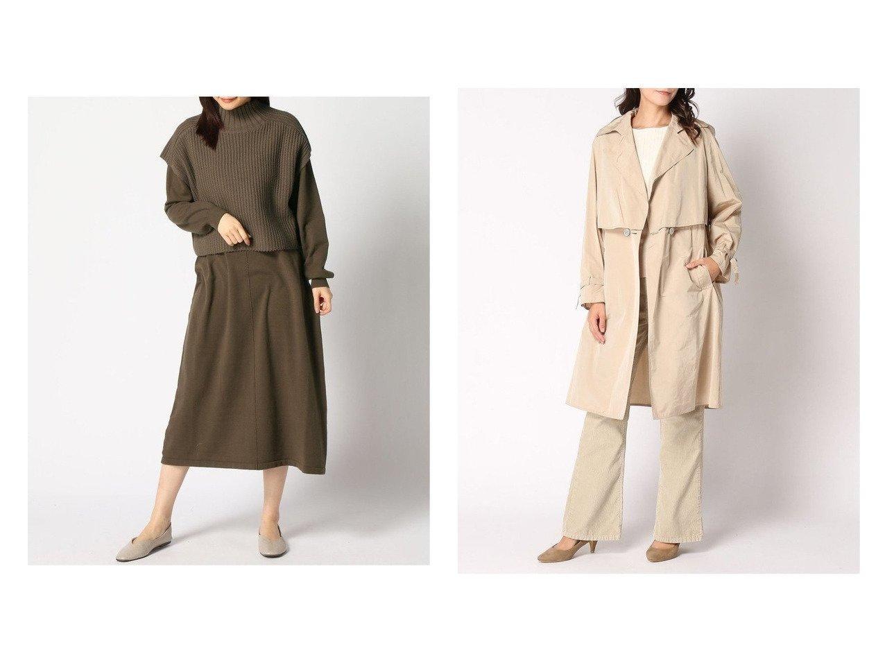 【CIVIDINI/チヴィディーニ】のコート&【studio CLIP/スタディオ クリップ】のニットベストXOPセット アウターのおすすめ!人気、トレンド・レディースファッションの通販 おすすめで人気の流行・トレンド、ファッションの通販商品 メンズファッション・キッズファッション・インテリア・家具・レディースファッション・服の通販 founy(ファニー) https://founy.com/ ファッション Fashion レディースファッション WOMEN アウター Coat Outerwear コート Coats ジャケット Jackets トレンチコート Trench Coats NEW・新作・新着・新入荷 New Arrivals シンプル ベスト ジャケット ロング |ID:crp329100000016358