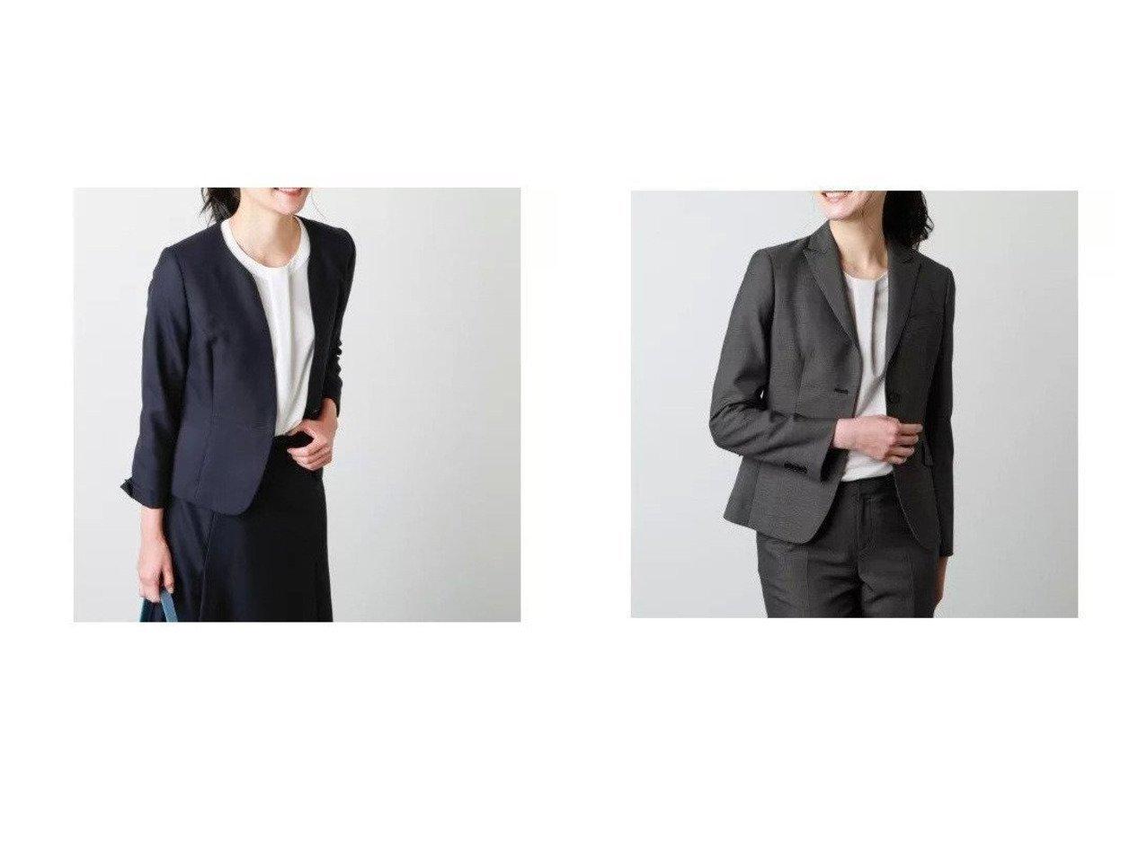 【NEWYORKER/ニューヨーカー】のウールシルクドビー ノーカラージャケット&ウールシルクドビー テーラード2釦ジャケット アウターのおすすめ!人気、トレンド・レディースファッションの通販 おすすめで人気の流行・トレンド、ファッションの通販商品 メンズファッション・キッズファッション・インテリア・家具・レディースファッション・服の通販 founy(ファニー) https://founy.com/ ファッション Fashion レディースファッション WOMEN アウター Coat Outerwear ジャケット Jackets ノーカラージャケット No Collar Leather Jackets インナー エレガント 春 Spring カットソー キュプラ シェイプ シルク ジャケット スマート スリット スーツ セットアップ ドット ポケット 無地 ロング 2021年 2021 S/S 春夏 SS Spring/Summer 2021 春夏 S/S SS Spring/Summer 2021 |ID:crp329100000016369