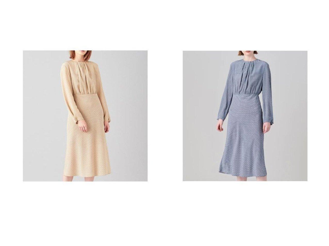 【JOSEPH/ジョゼフ】のジオメトリックプリント ワンピース ワンピース・ドレスのおすすめ!人気、トレンド・レディースファッションの通販 おすすめファッション通販アイテム インテリア・キッズ・メンズ・レディースファッション・服の通販 founy(ファニー)  ファッション Fashion レディースファッション WOMEN ワンピース Dress ドレス Party Dresses エレガント ギャザー シルク ドレス バイアス フォーマル プリント ベージュ系 Beige グレー系 Gray |ID:crp329100000016377