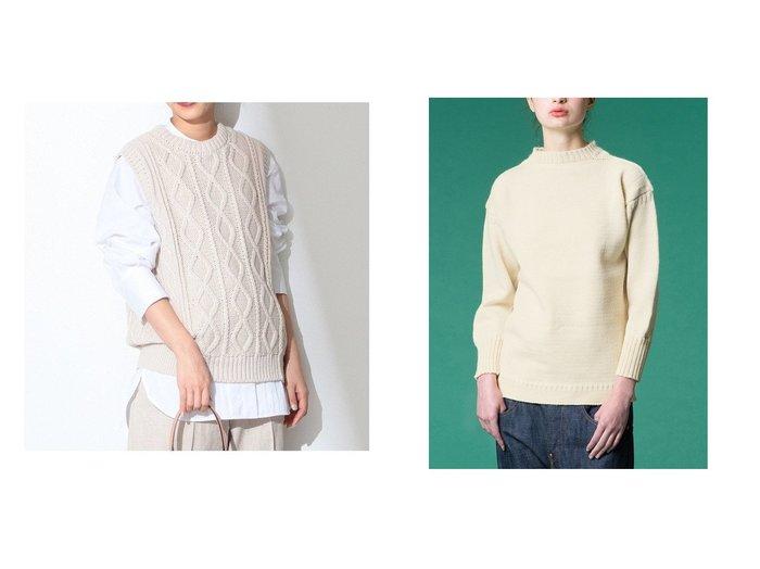 【Bshop/ビショップ】の【Le Tricoteur】トラディショナル ウールガンジーセーター WOMEN&【Demi-Luxe BEAMS/デミルクス ビームス】のケーブル ベスト トップス・カットソーのおすすめ!人気、トレンド・レディースファッションの通販 おすすめファッション通販アイテム レディースファッション・服の通販 founy(ファニー) ファッション Fashion レディースファッション WOMEN アウター Coat Outerwear トップス Tops Tshirt ニット Knit Tops キャミソール / ノースリーブ No Sleeves ベスト/ジレ Gilets Vests NEW・新作・新着・新入荷 New Arrivals シンプル ノースリーブ ベスト 別注 セーター 長袖 ボーダー 無地 冬 Winter |ID:crp329100000016421