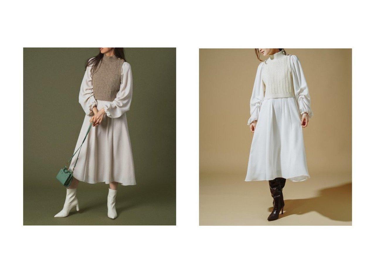 【CELFORD/セルフォード】のニットベストレイヤードワンピース ワンピース・ドレスのおすすめ!人気、トレンド・レディースファッションの通販 おすすめで人気の流行・トレンド、ファッションの通販商品 メンズファッション・キッズファッション・インテリア・家具・レディースファッション・服の通販 founy(ファニー) https://founy.com/ ファッション Fashion レディースファッション WOMEN アウター Coat Outerwear アクリル ギャザー スマート ハイネック ベスト ロング 冬 Winter 2020年 2020 再入荷 Restock/Back in Stock/Re Arrival 2020-2021 秋冬 A/W AW Autumn/Winter / FW Fall-Winter 2020-2021 |ID:crp329100000016427