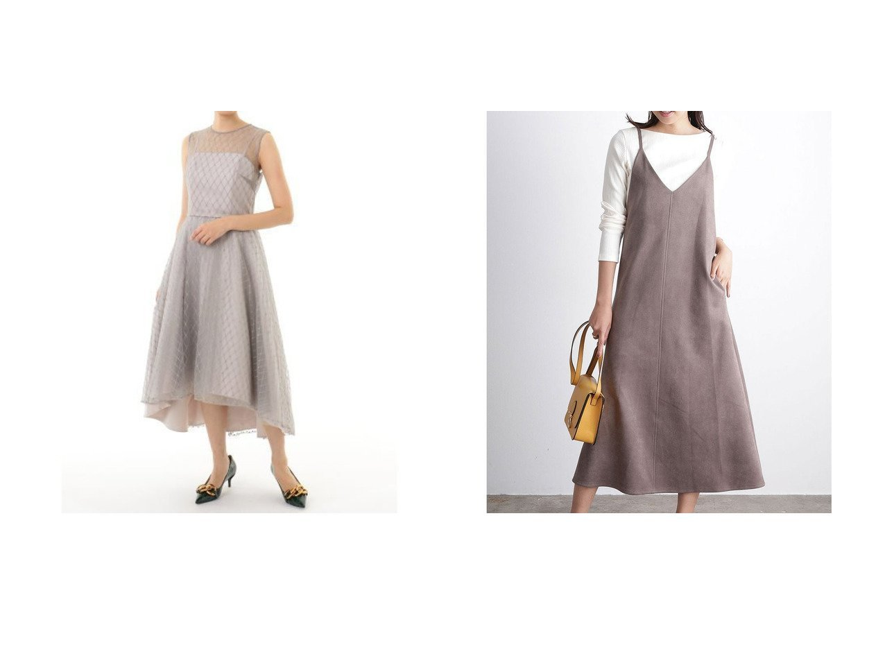 【VIS/ビス】の【パウダータッチエコスエード】キャミワンピース&【GRACE CONTINENTAL/グレース コンチネンタル】のメッシュチュール刺繍ドレス ワンピース・ドレスのおすすめ!人気、トレンド・レディースファッションの通販 おすすめで人気の流行・トレンド、ファッションの通販商品 メンズファッション・キッズファッション・インテリア・家具・レディースファッション・服の通販 founy(ファニー) https://founy.com/ ファッション Fashion レディースファッション WOMEN ワンピース Dress ドレス Party Dresses キャミワンピース No Sleeve Dresses ドレス フォーマル 2020年 2020 2020-2021 秋冬 A/W AW Autumn/Winter / FW Fall-Winter 2020-2021 A/W 秋冬 AW Autumn/Winter / FW Fall-Winter カッティング カットソー キャミソール キャミワンピース スエード トレンド 洗える |ID:crp329100000016430